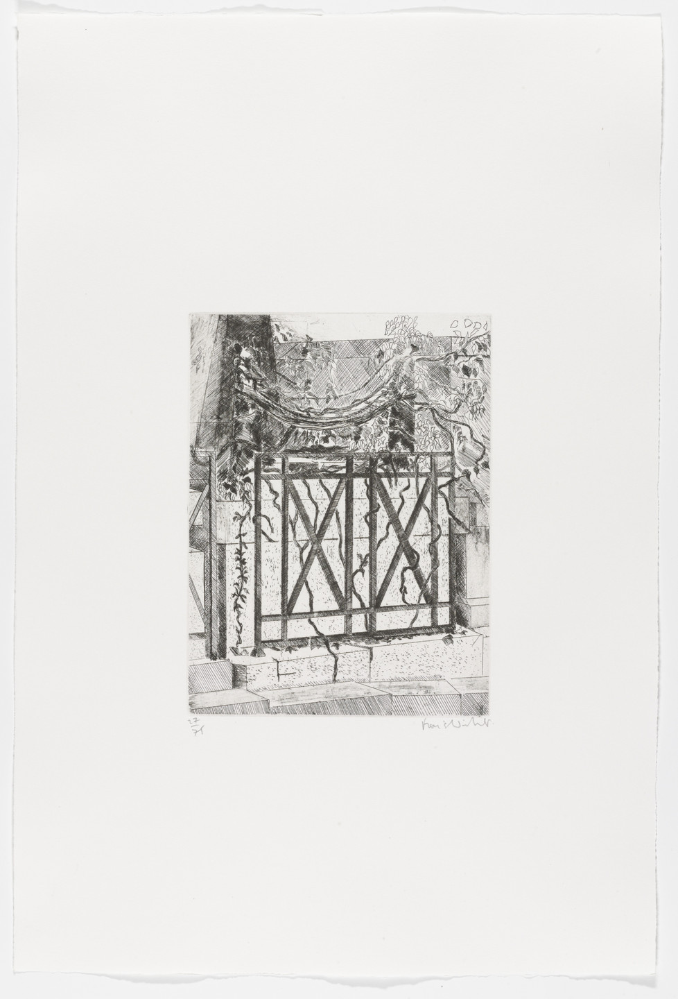 Francis Wishart. Allan Kardec (plate 18) from Le Pére Lachaise. 1978