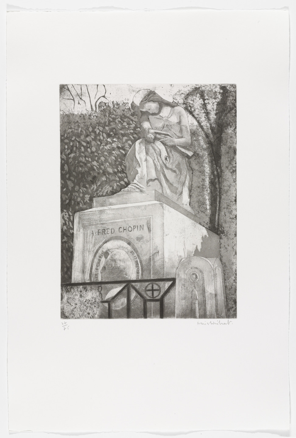 Francis Wishart. Chopin (plate 17) from Le Pére Lachaise. 1978