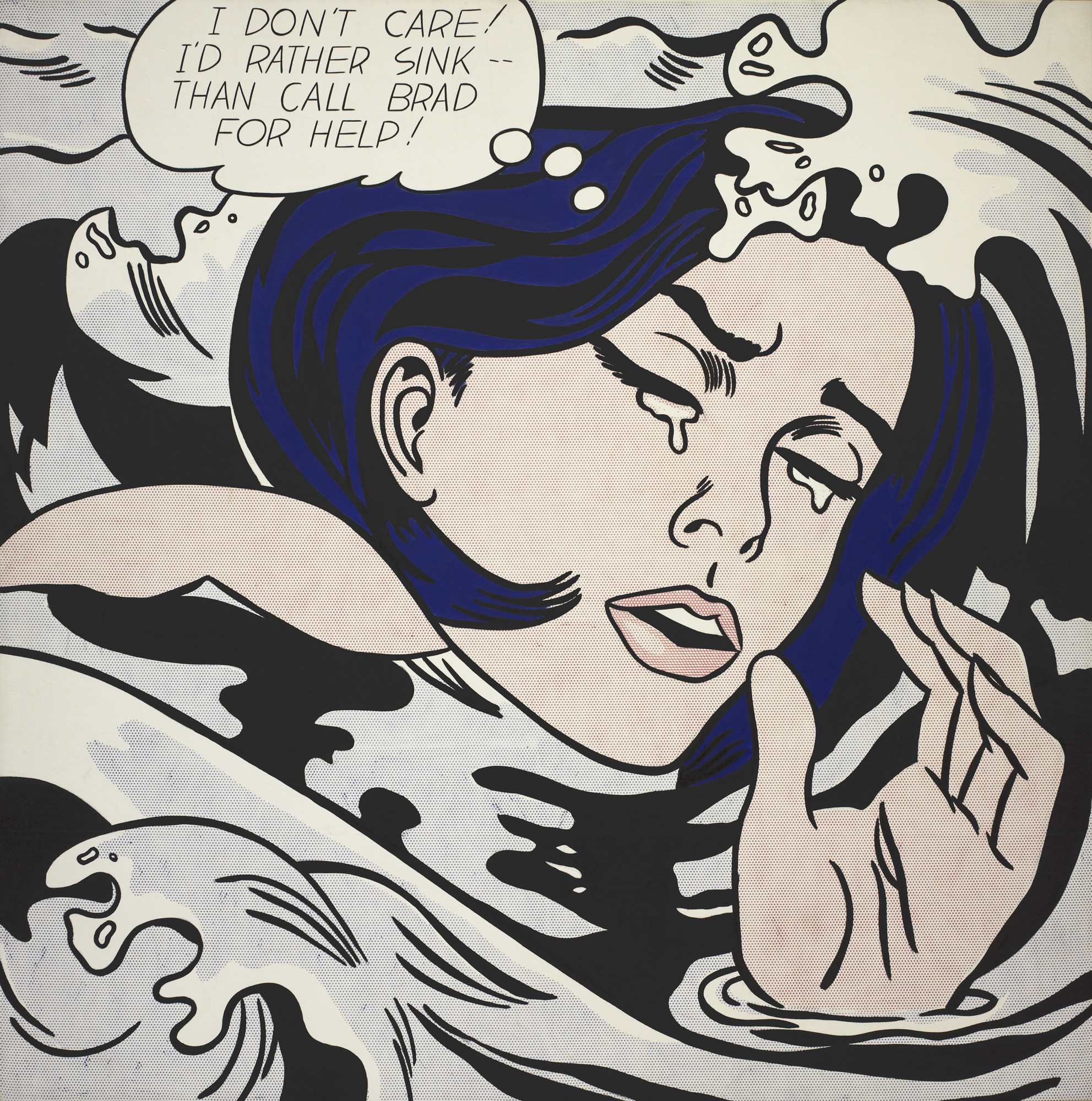 Roy Lichtenstein. Drowning Girl. 1963