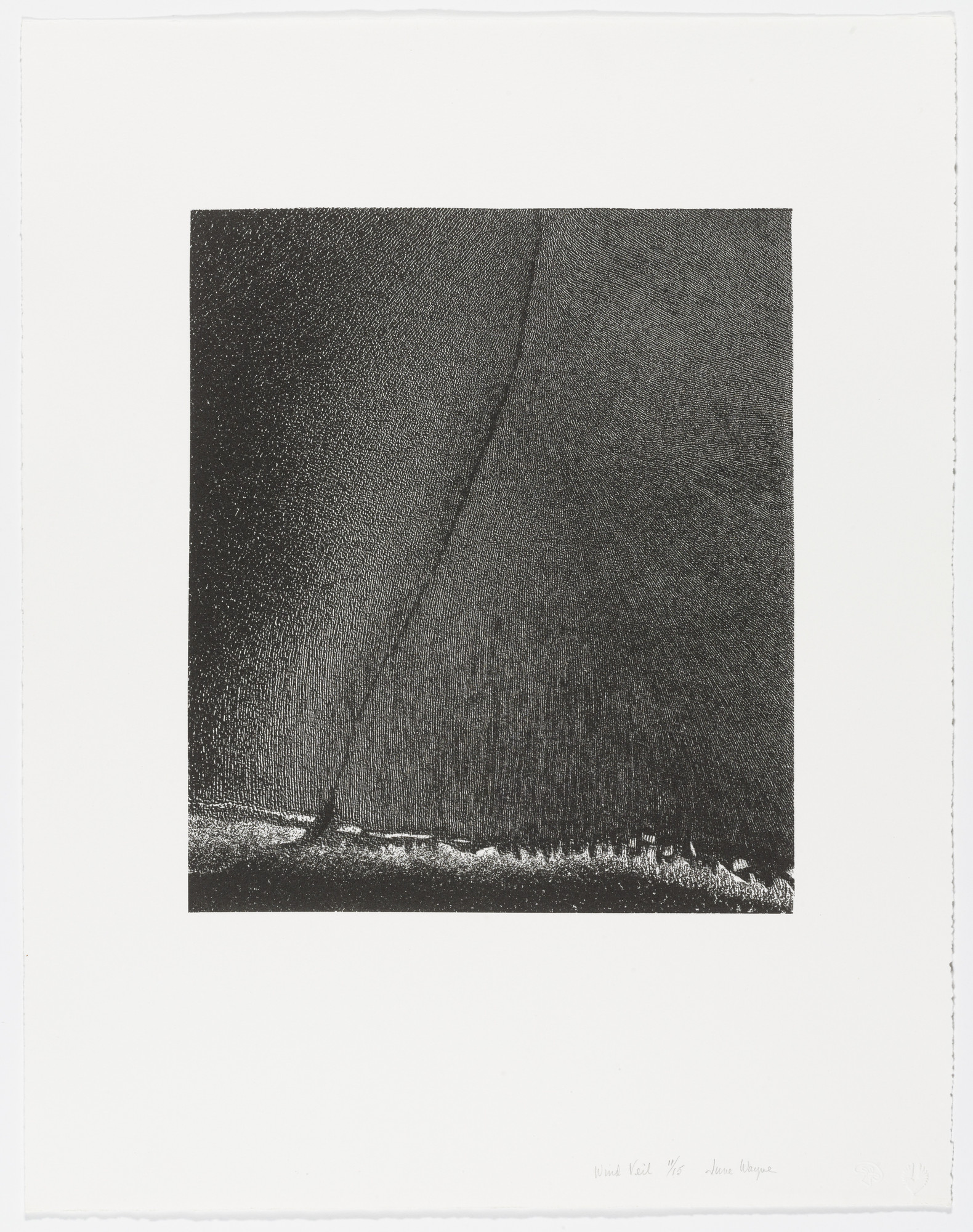 June Wayne. Wind Veil from Stellar Winds. 1978, published 1979