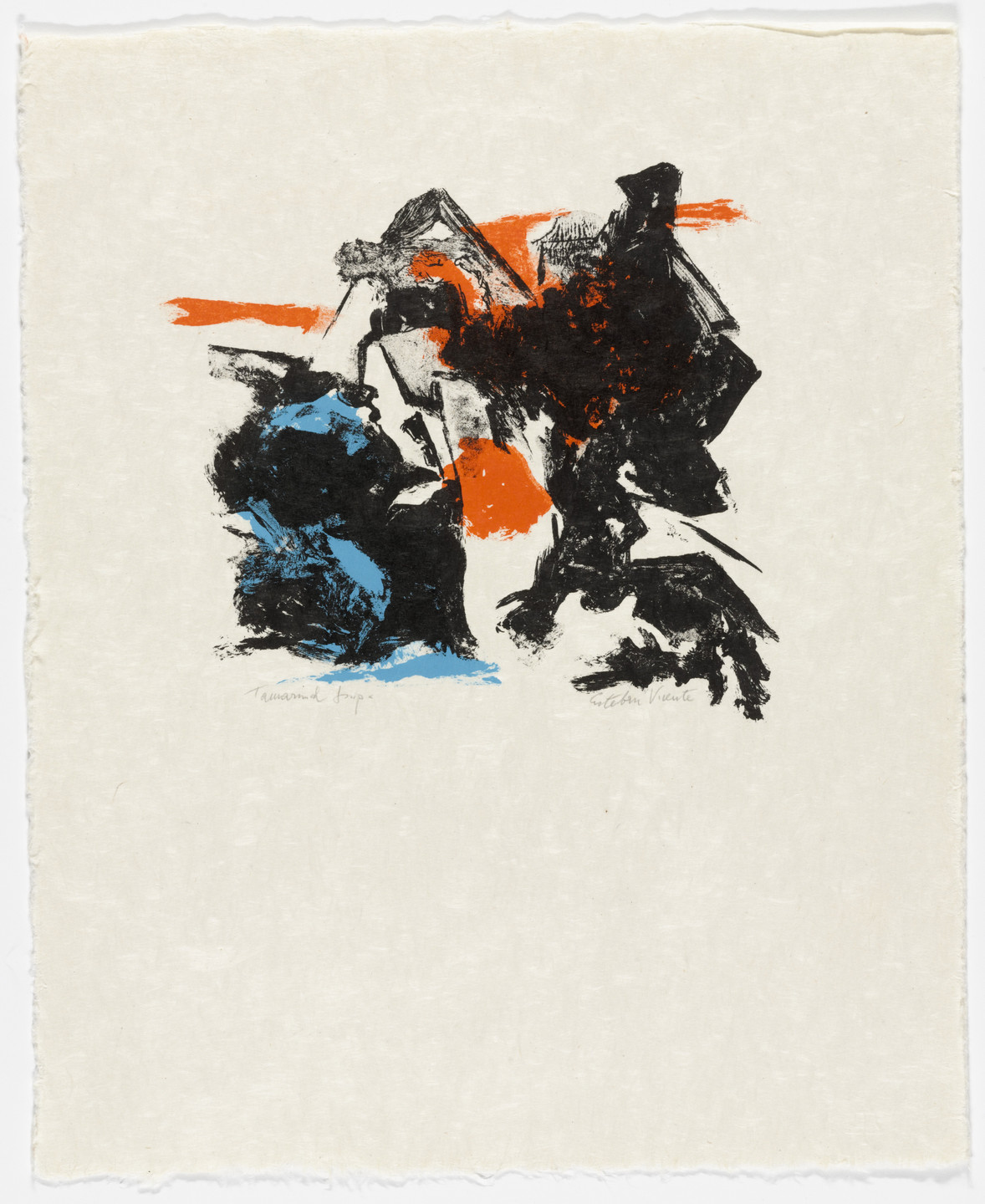 Esteban Vicente. Untitled from the portfolio FIVE LITHOGRAPHS. (September 12-17, 1962)