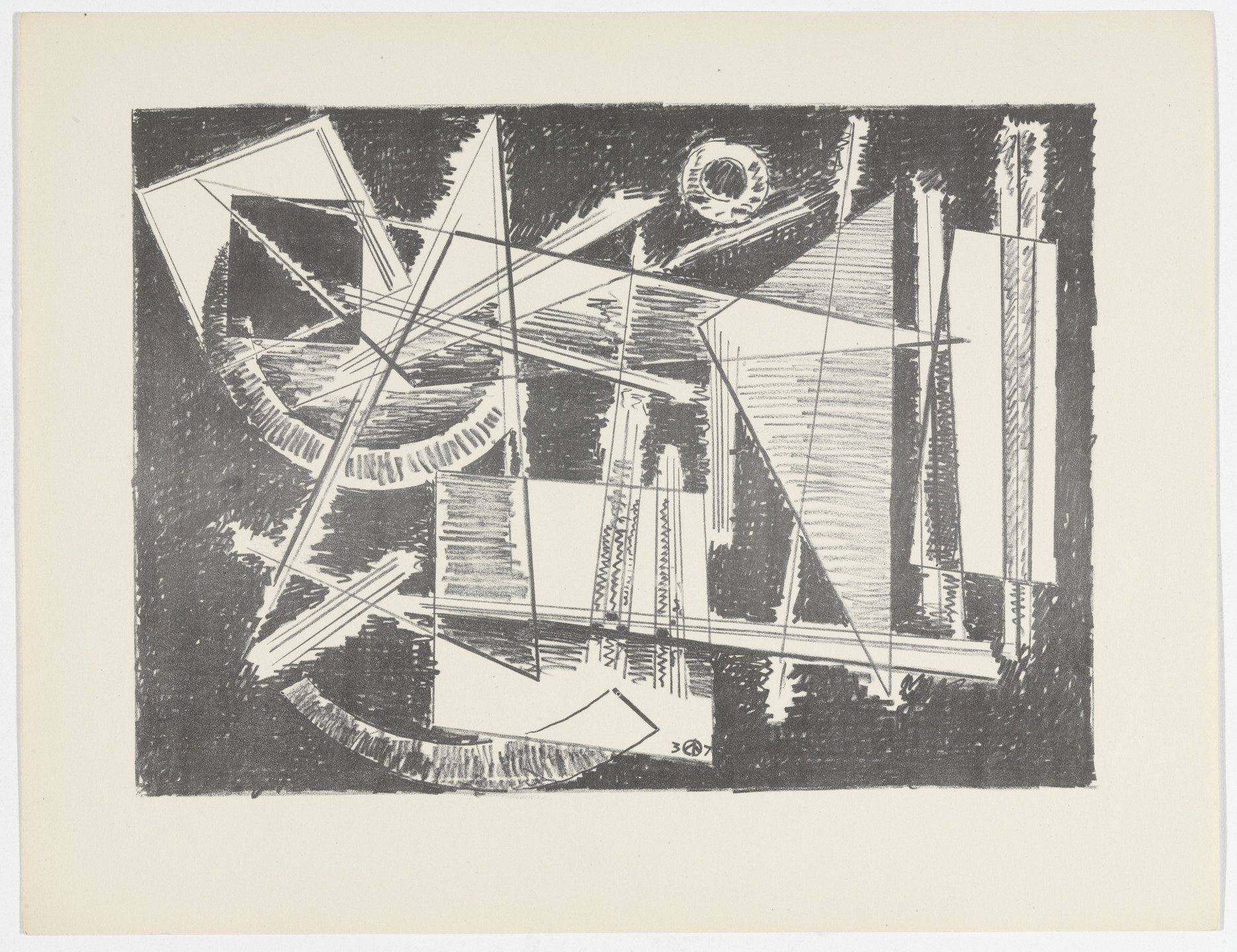 Werner Drewes. Untitled from American Abstract Artists. 1937
