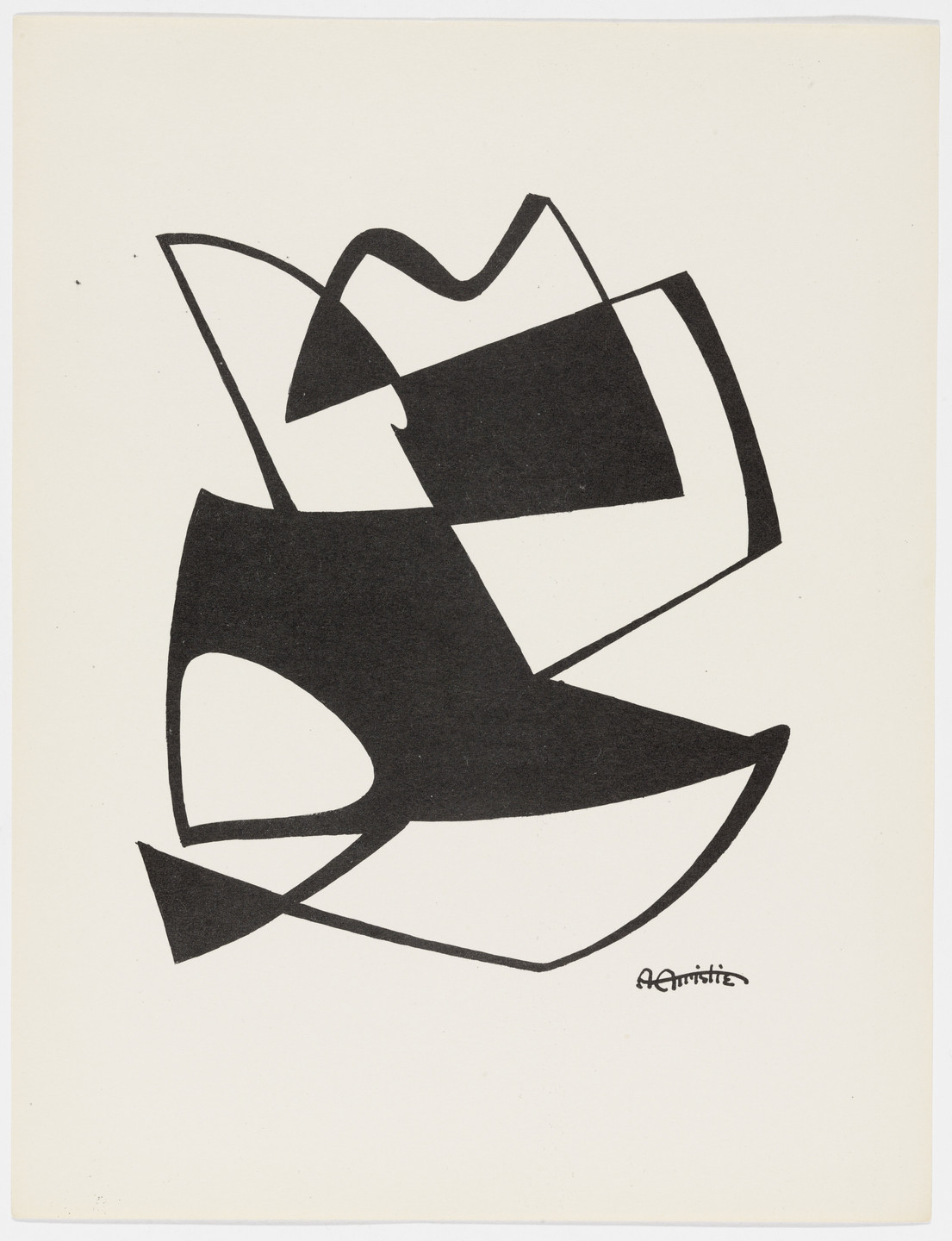 Arthur N. Christie. Untitled from American Abstract Artists. 1937