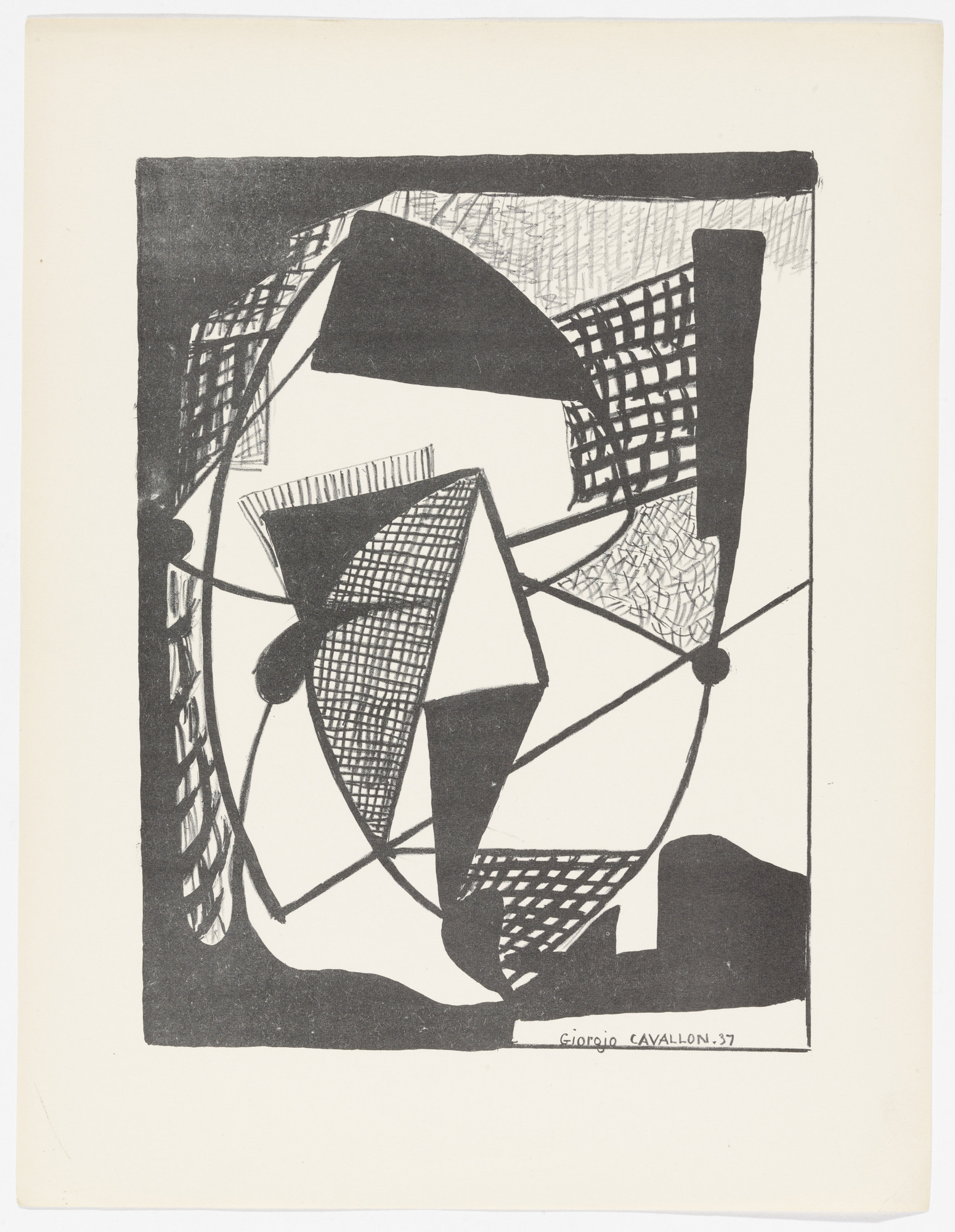 Giorgio Cavallon. Untitled from American Abstract Artists. 1937