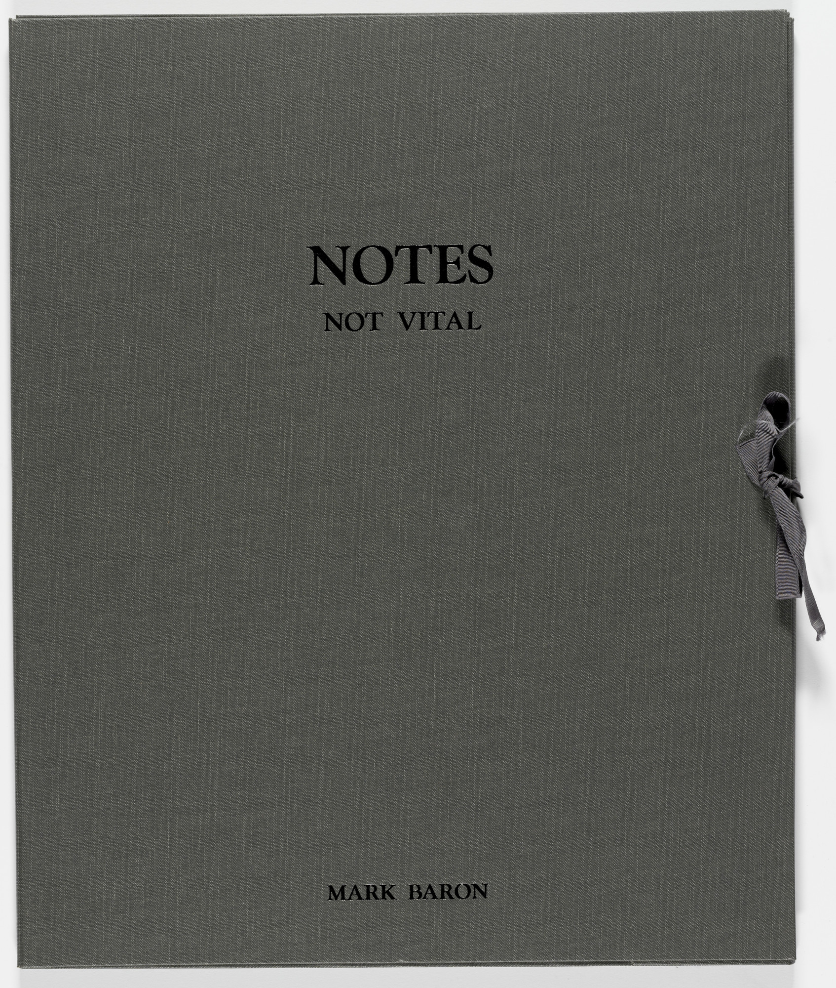 Not Vital. Notes. 1986