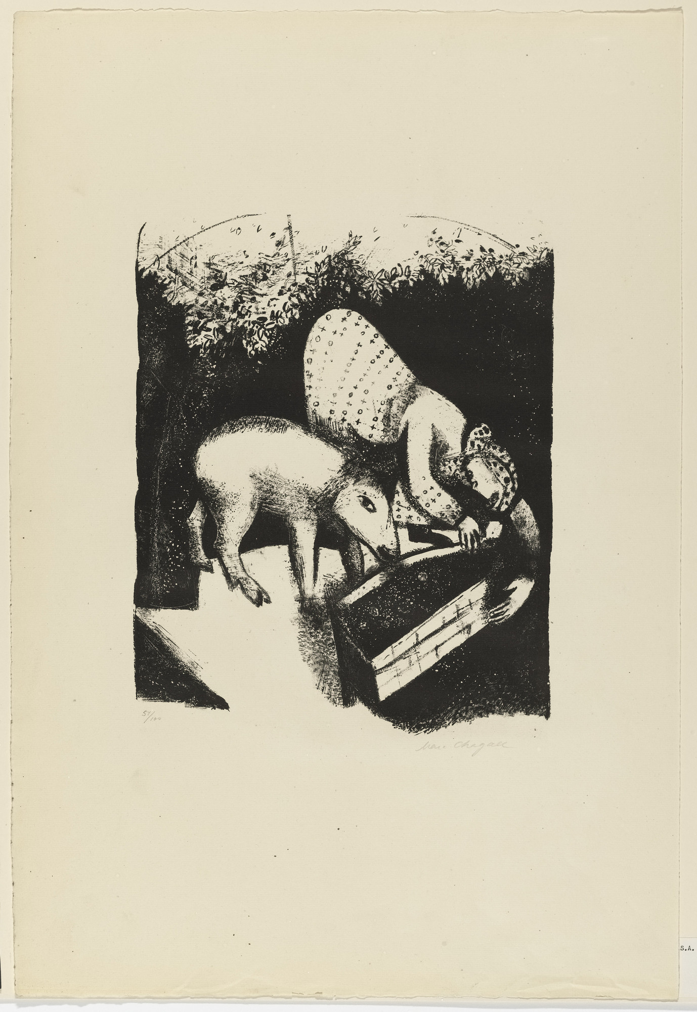 Marc Chagall. The Trough II (L'Auge II). 1924, published 1925