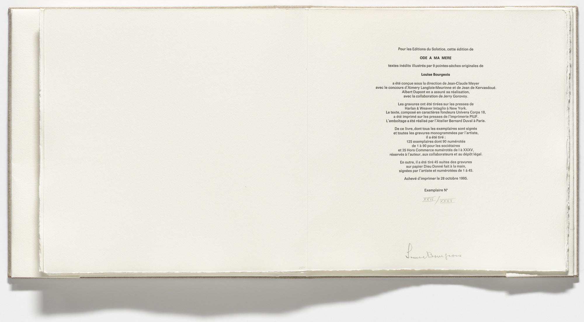 Louise Bourgeois Ode à Ma Mère 1995 Moma
