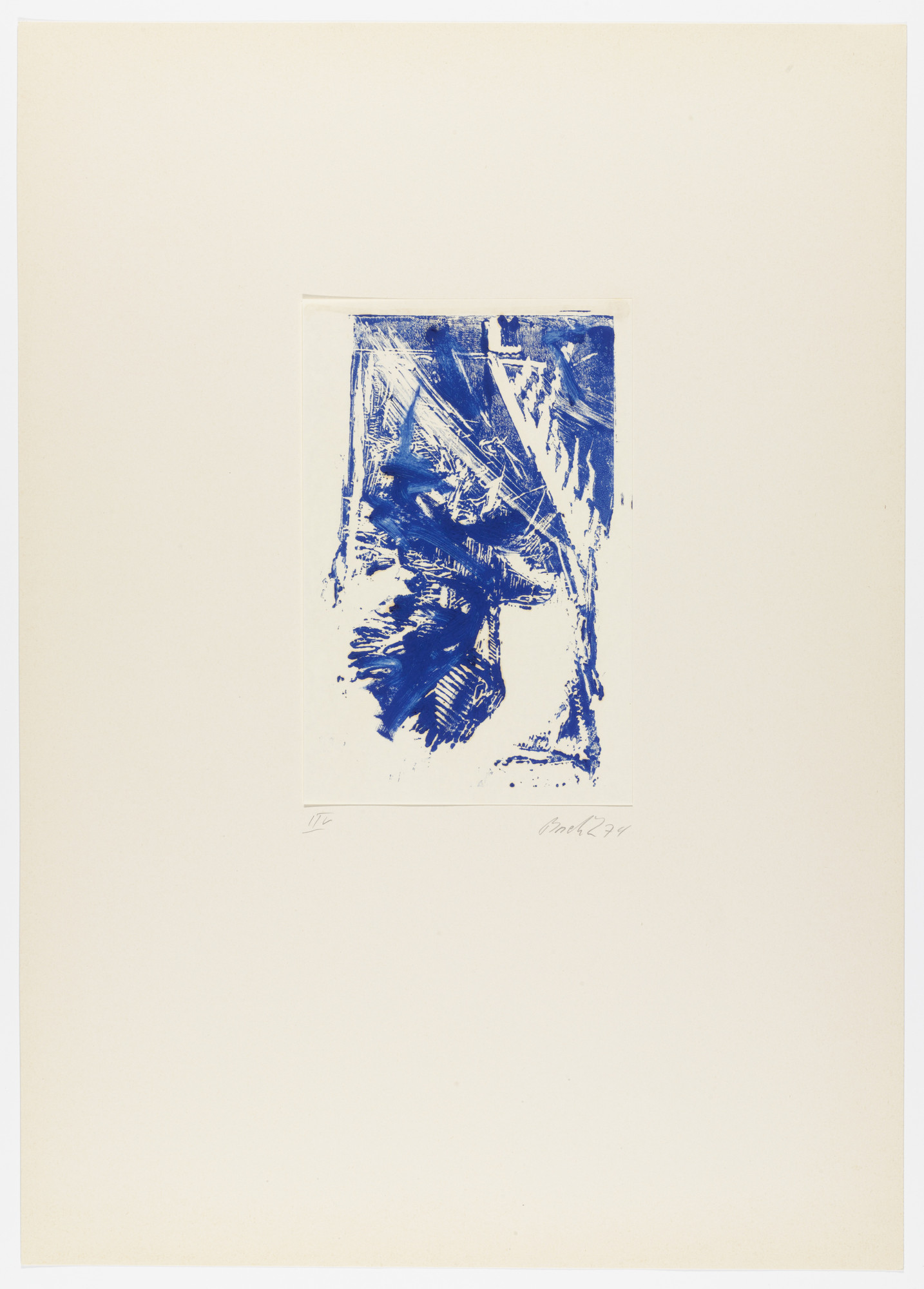 Georg Baselitz. Untitled from Eagle (Adler). 1974, published 1975