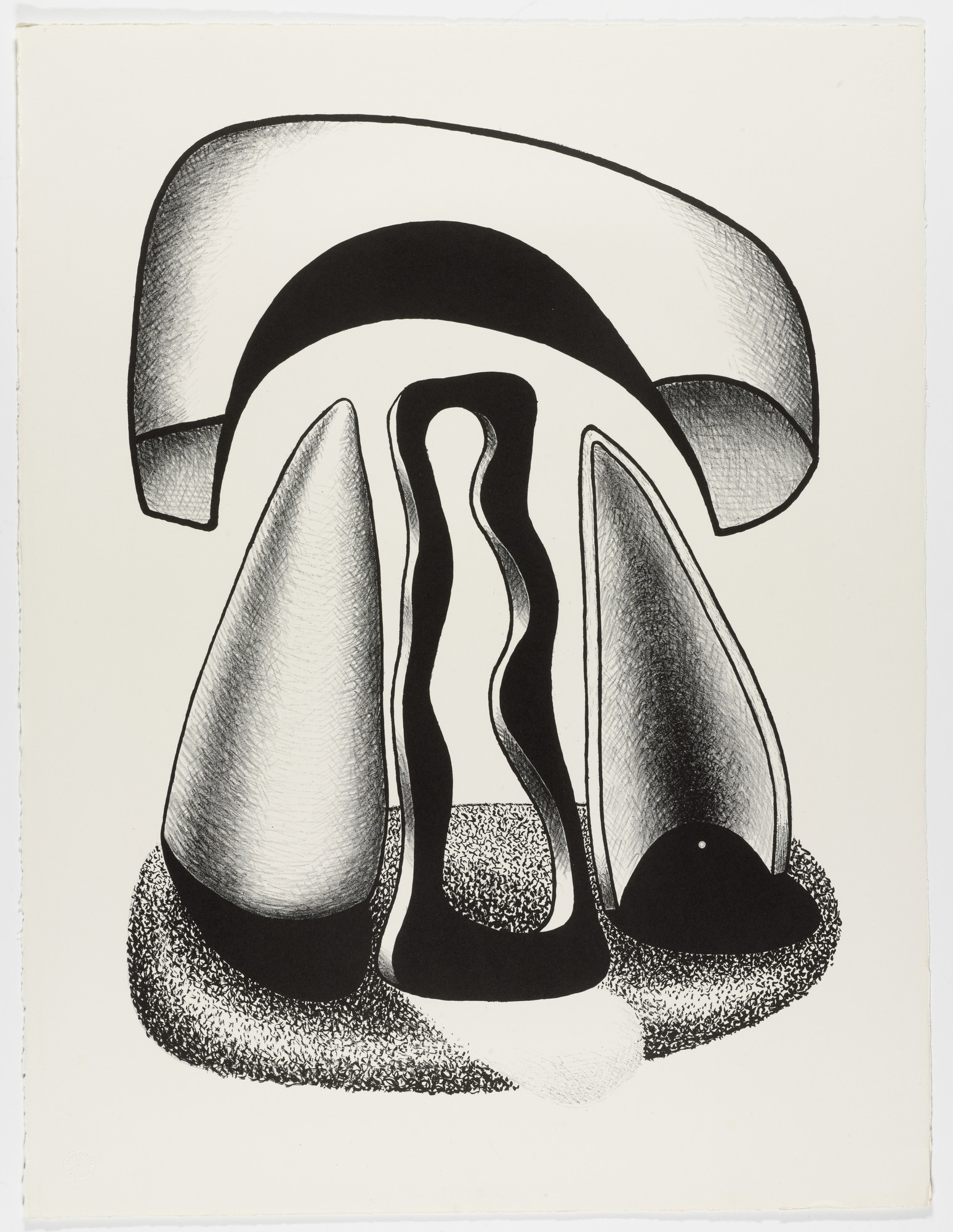Aleksandr Archipenko. Coronation of Forms (Le couronnement des formes) from the portfolio Living Forms (Les formes vivantes). 1963