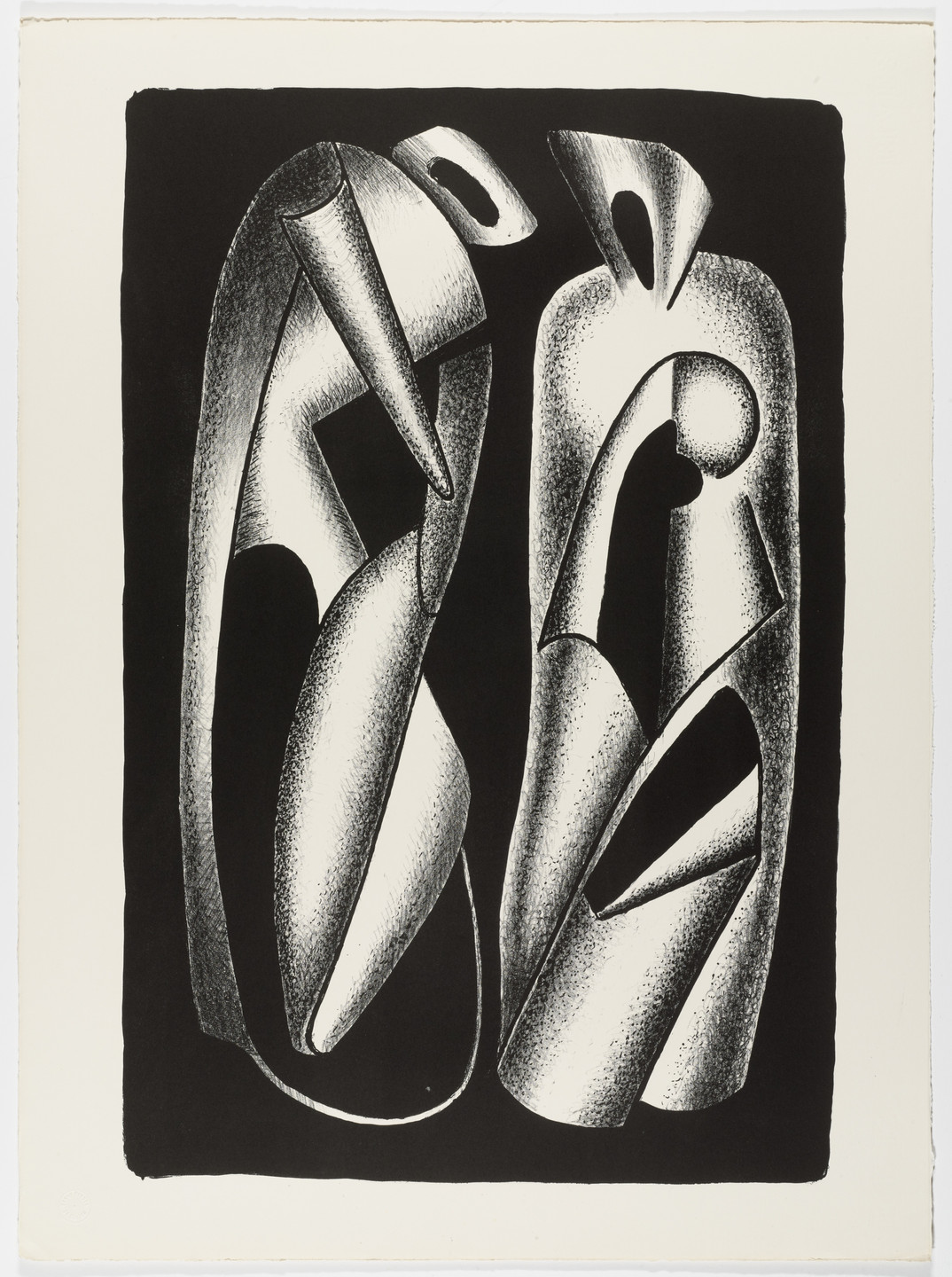 Aleksandr Archipenko. The Luminosity of Forms (Luminosité des formes) from the portfolio Living Forms (Les formes vivantes). 1963