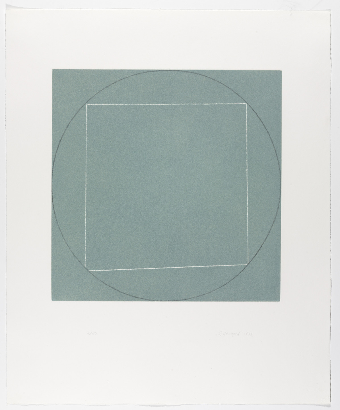 Robert Mangold. Untitled from Seven Aquatints. 1973 (published 1974)