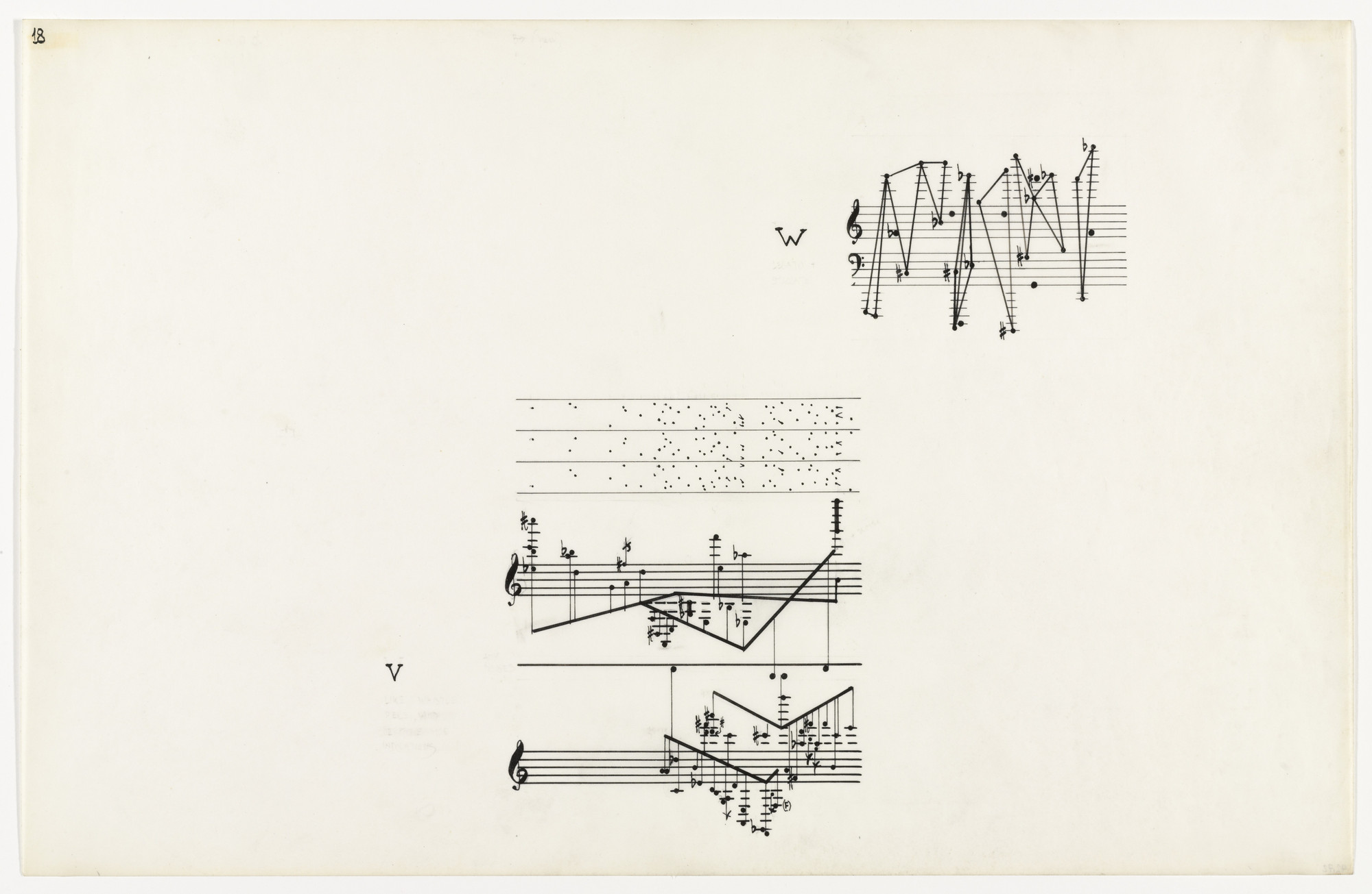 John Cage. Page 18, Solo for Piano, from Concert for Piano and Orchestra. 1958