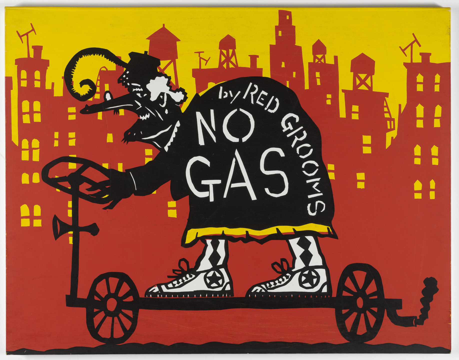 Red Grooms. No Gas. 1971