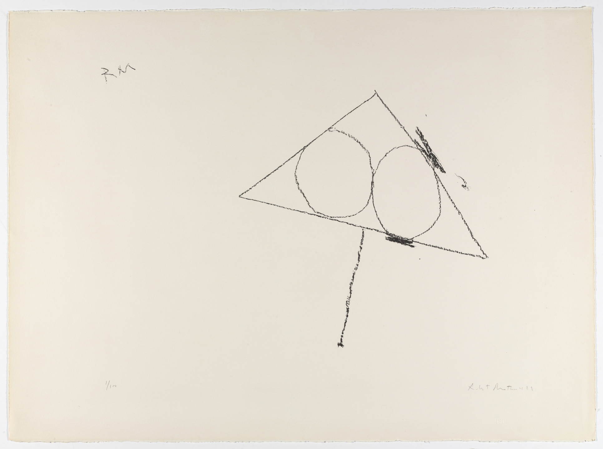 Robert Motherwell. Untitled from The Madrid Suite. 1965–66