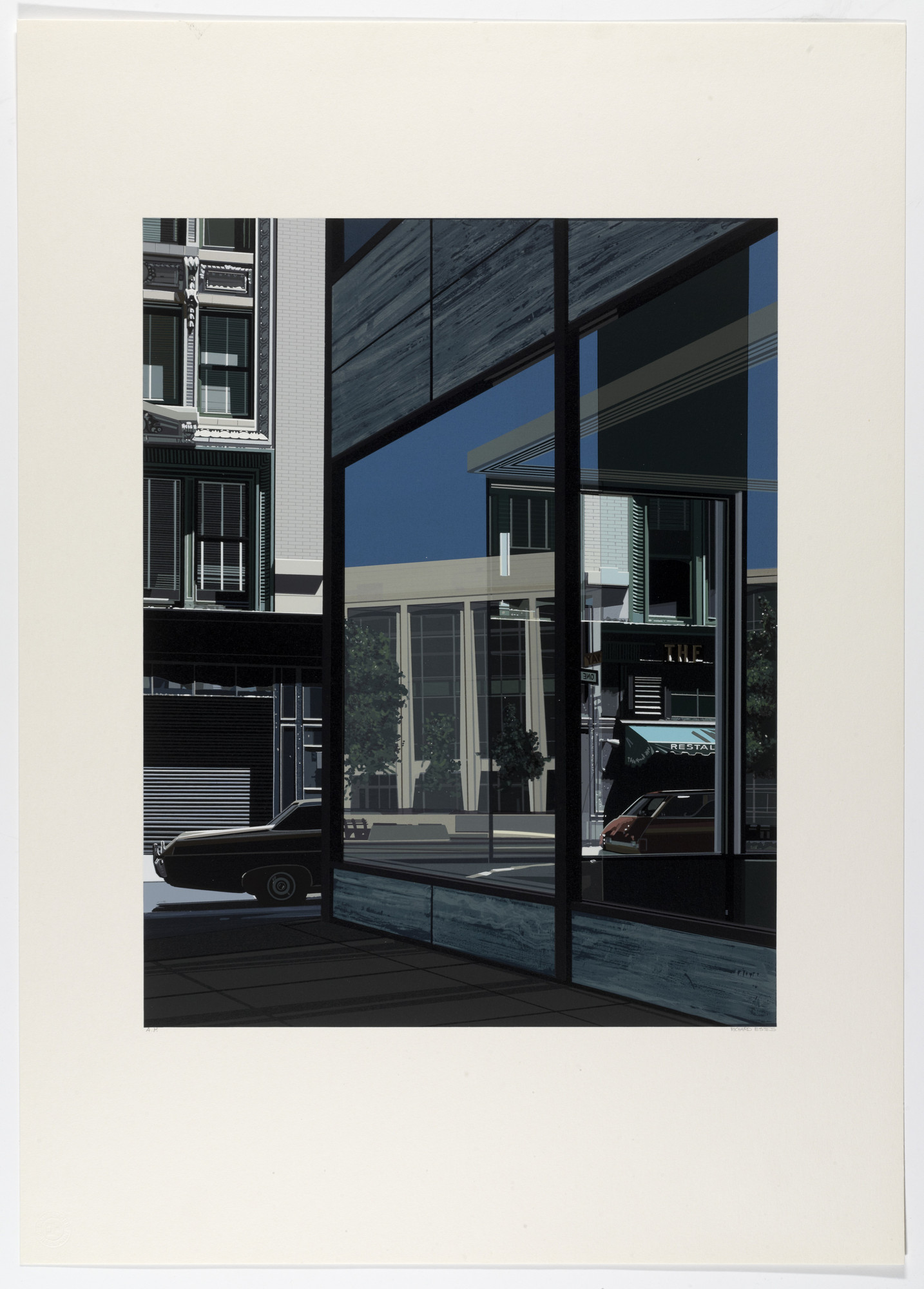 Richard Estes. Untitled from the portfolio Urban Landscapes No. 2. (1979)