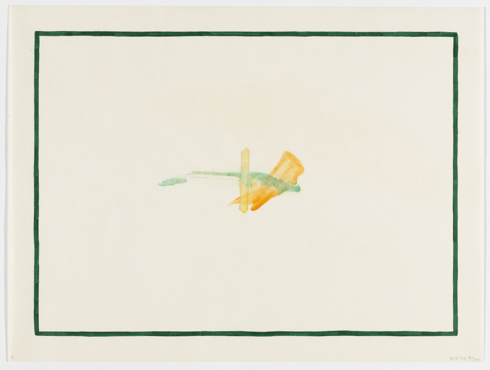 Richard Tuttle. Untitled from Galisteo Paintings. 1993