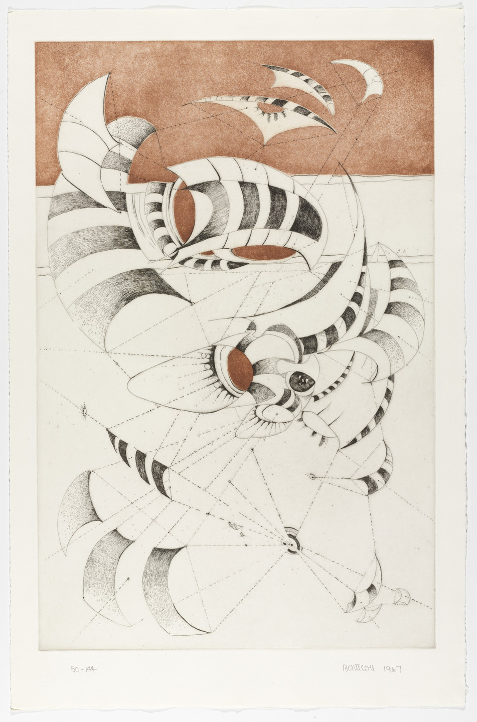 Lee Bontecou. Untitled from National Collection of Fine Arts Portfolio. 1967, published 1968