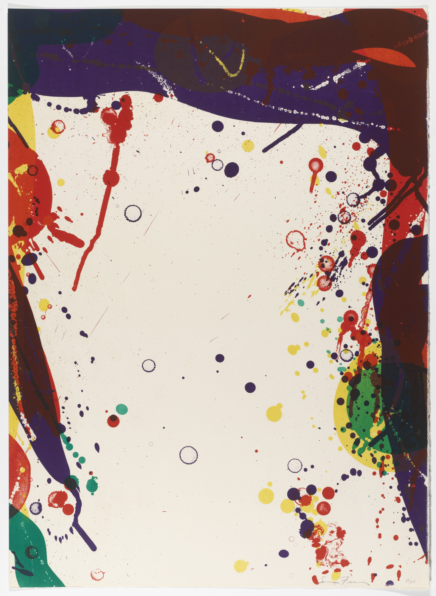 Sam Francis. Untitled from National Collection of Fine Arts Portfolio. 1968