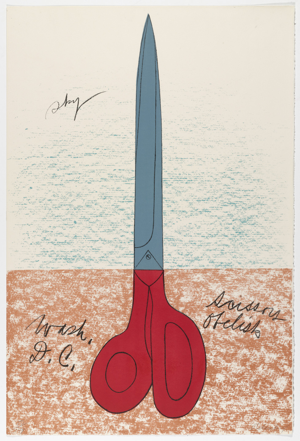 Claes Oldenburg. Scissors as Monument from National Collection of Fine Arts Portfolio. 1967, published 1968