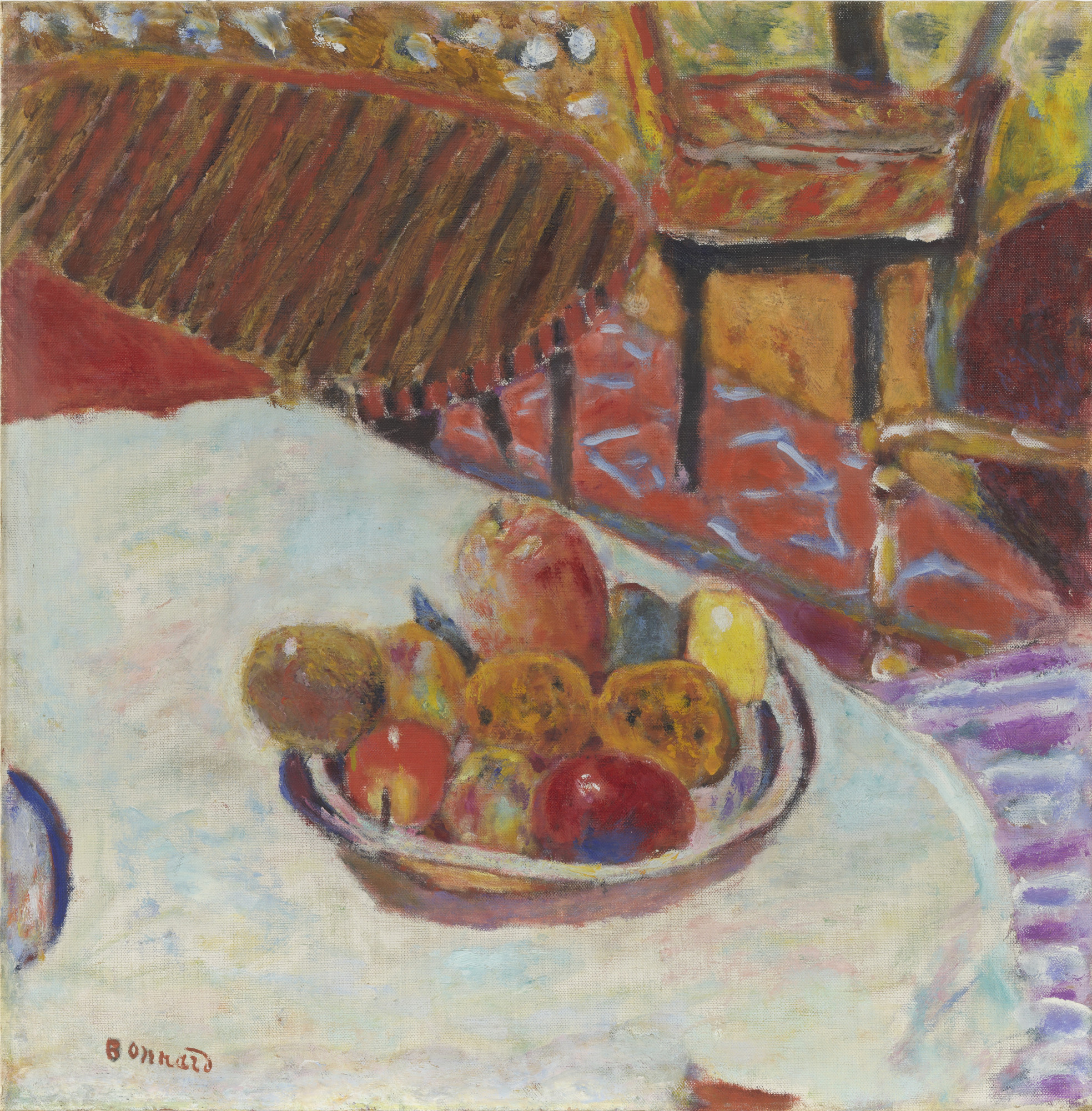 Pierre Bonnard. Still Life (Table with Bowl of Fruit). 1939