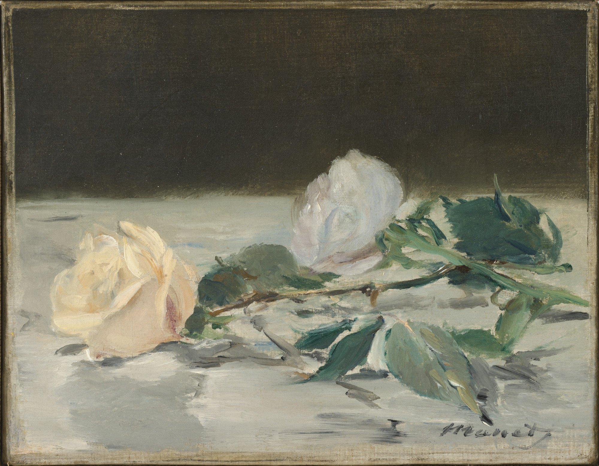 Édouard Manet. Two Roses. c. 1882
