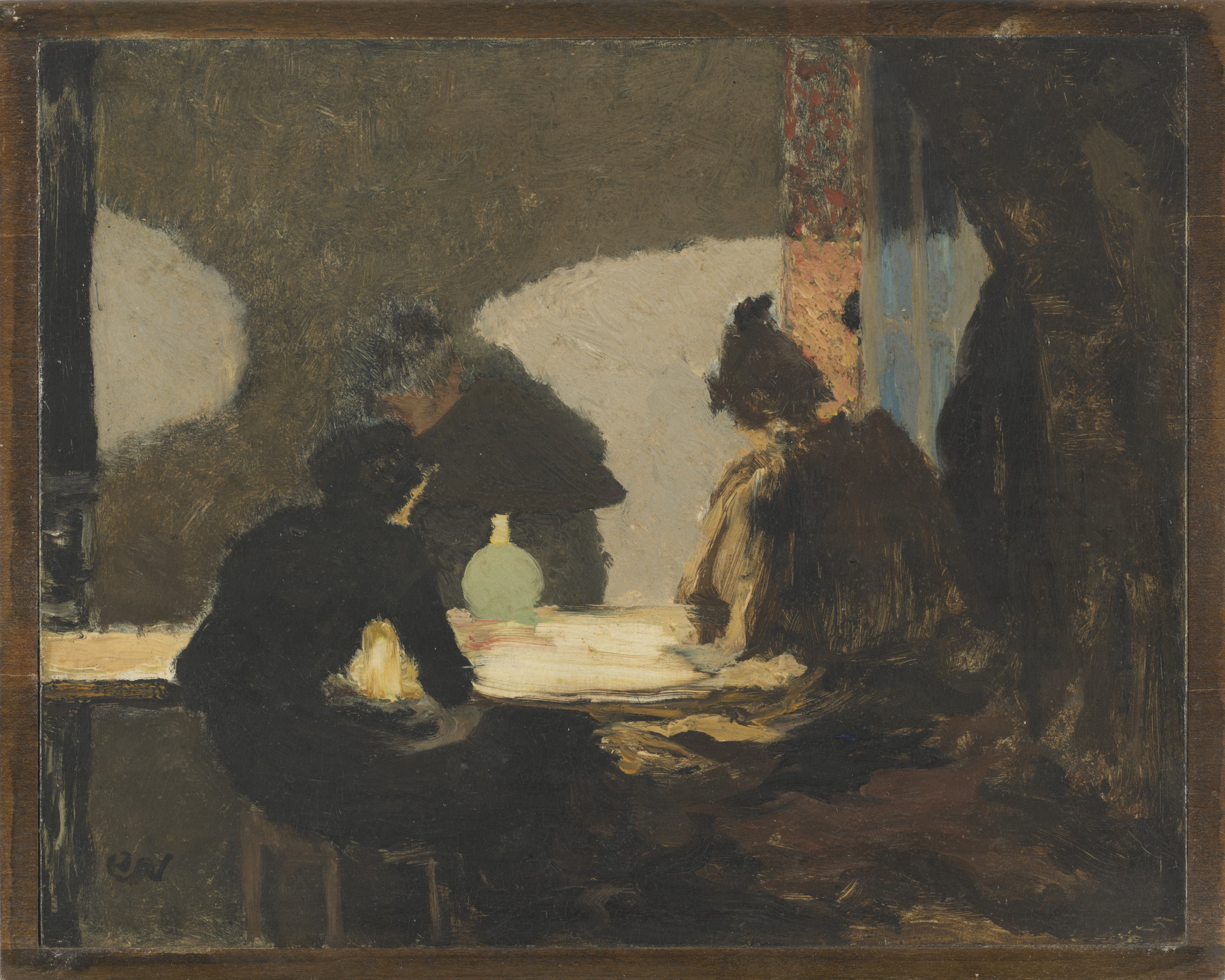 Édouard Vuillard. The Green Lamp. 1893