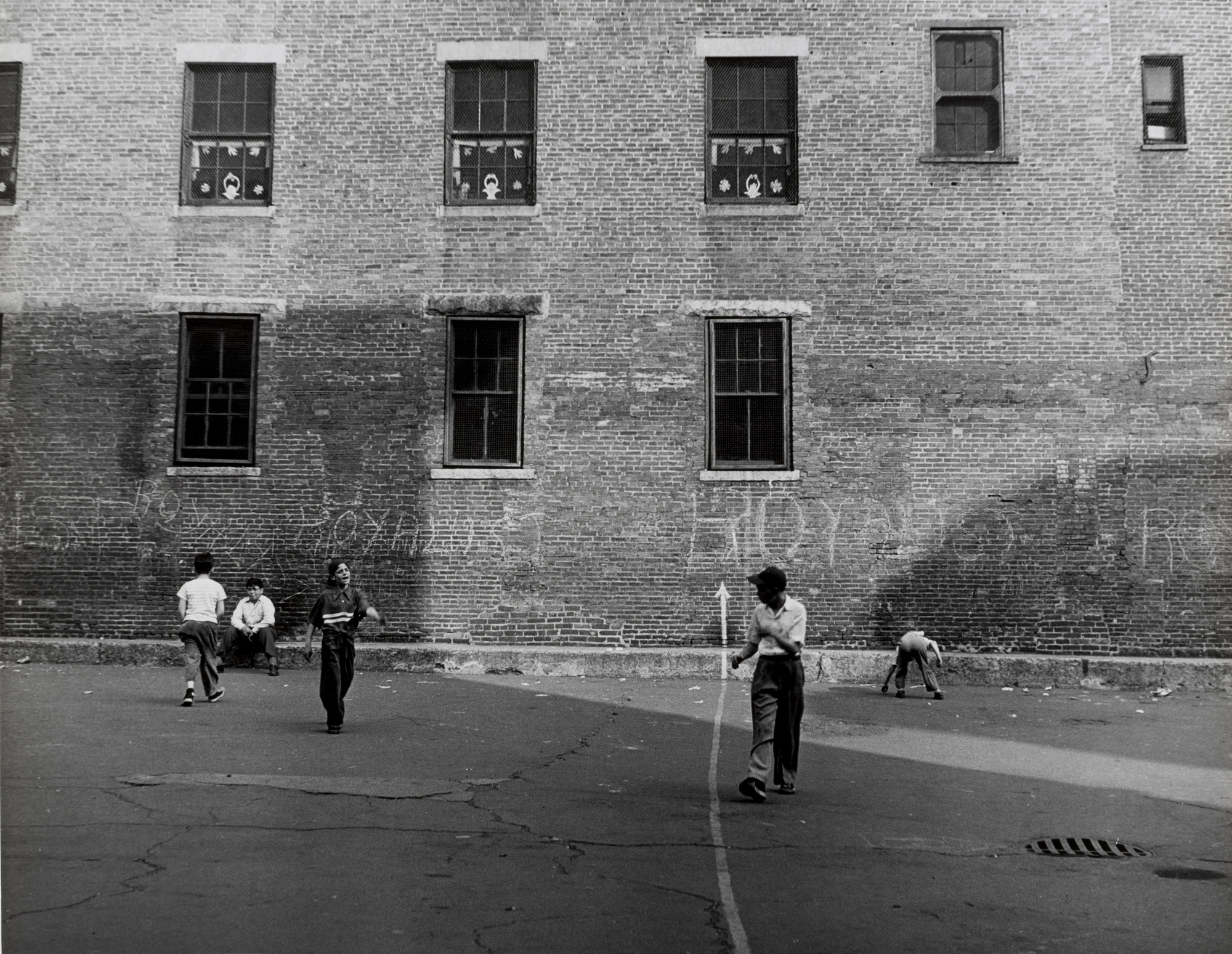 Jules Aarons. School Yard, Boston. 1950