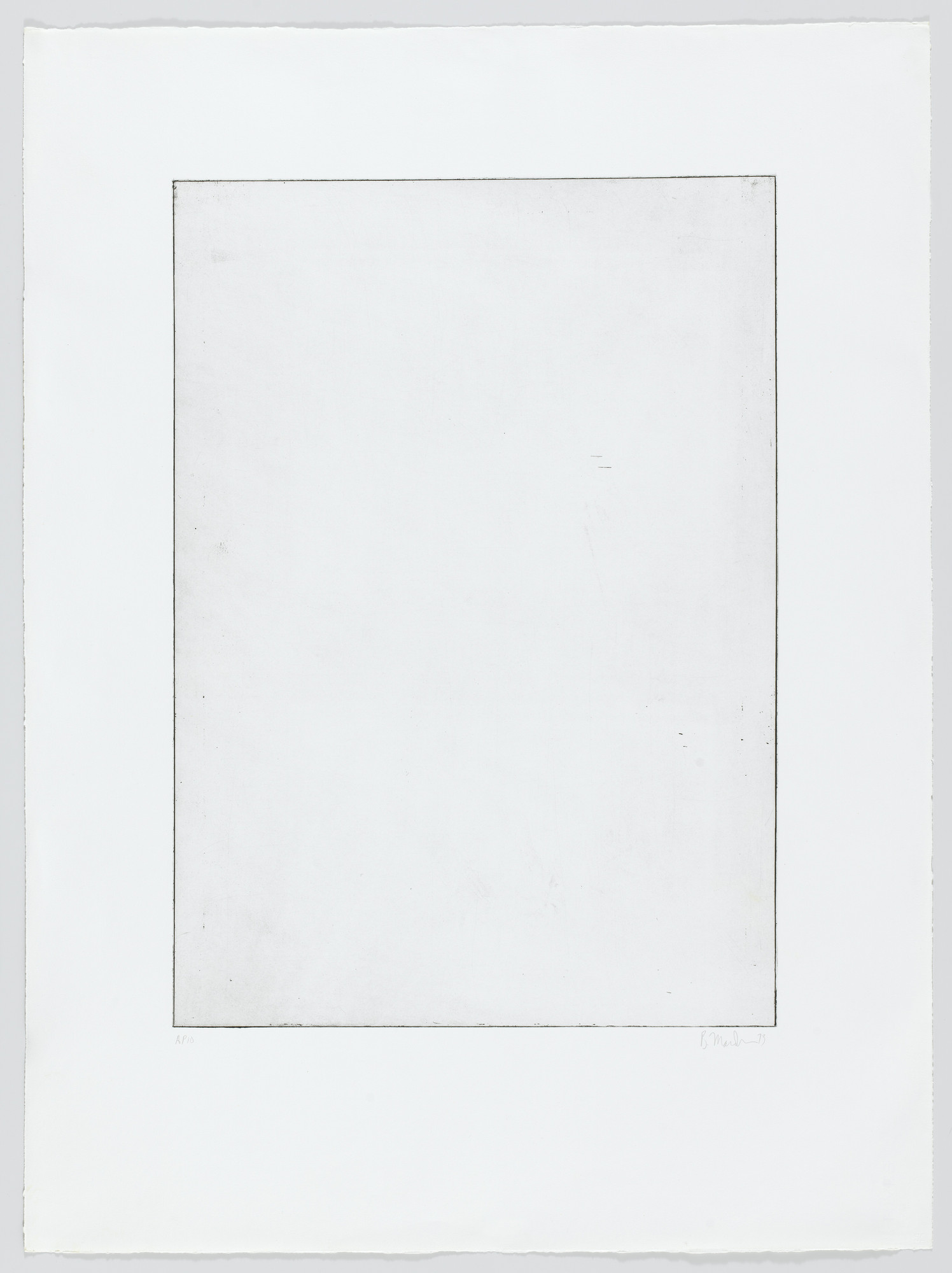 Brice Marden. Untitled from Five Plates. 1973