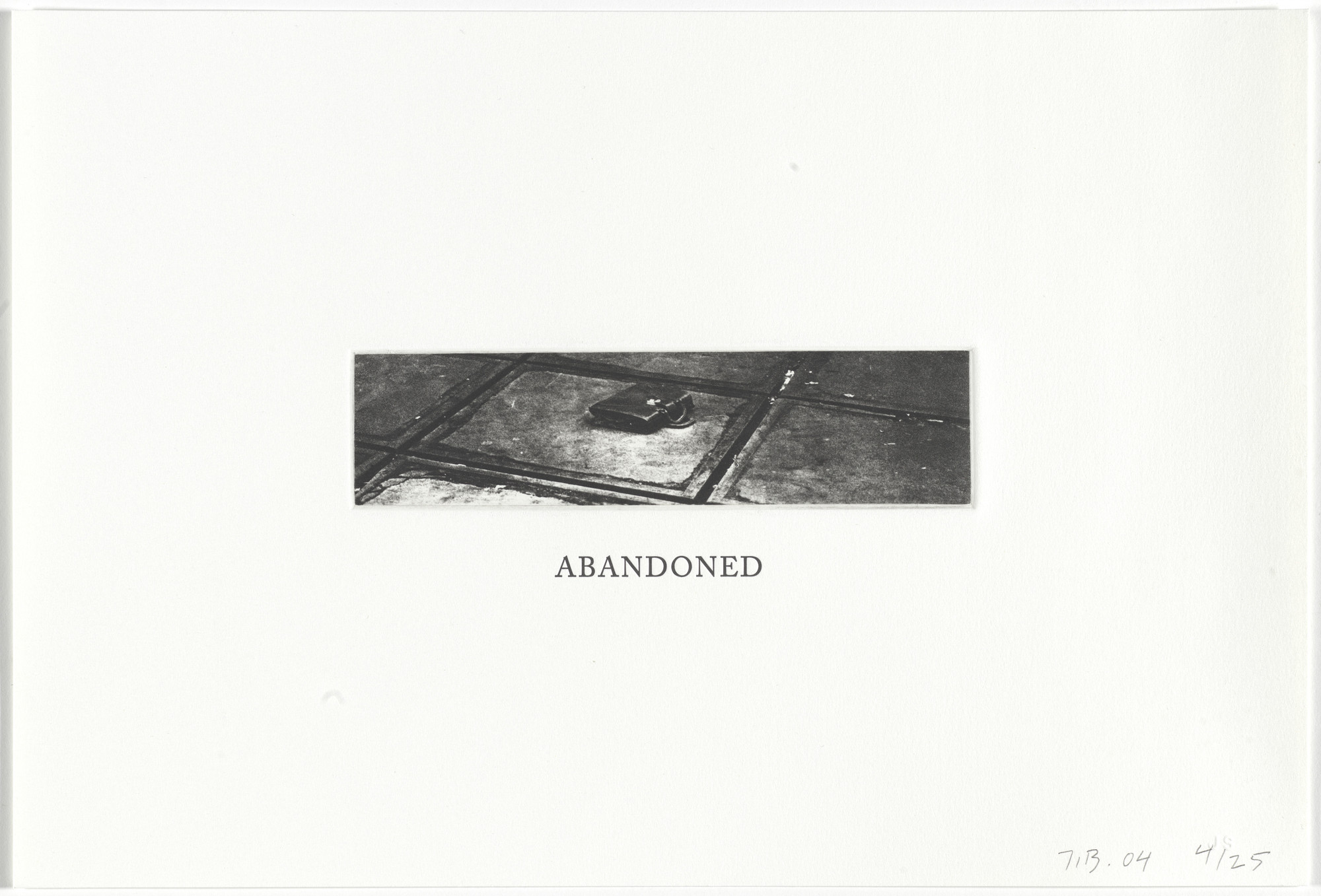 John Baldessari. Abandoned from Some Narrow Views: (Either Tall or Wide). 2004