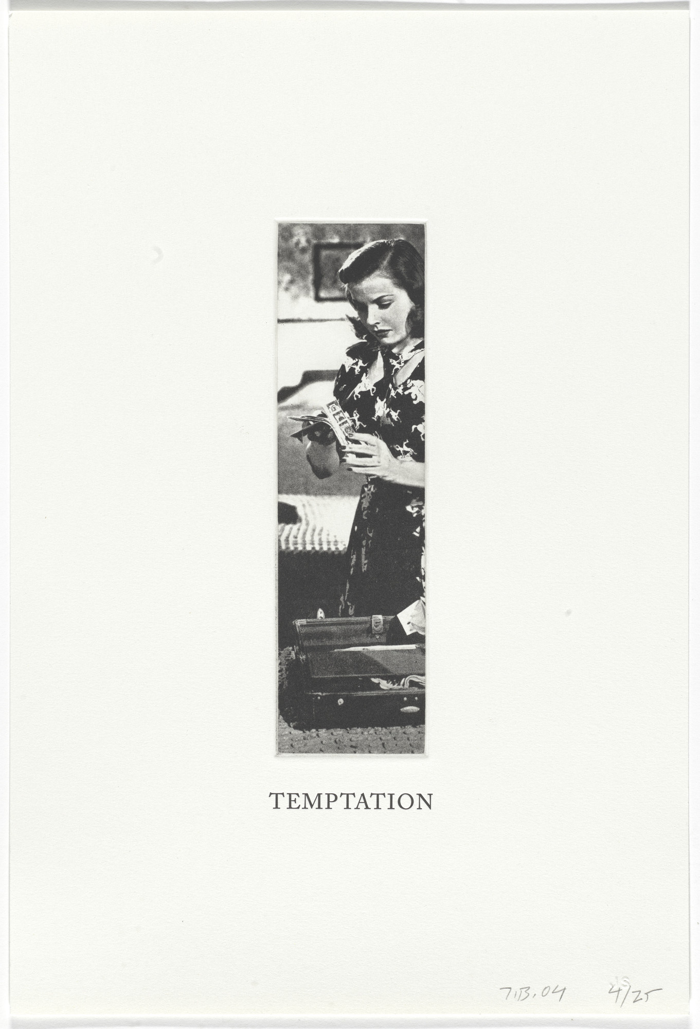John Baldessari. Temptation from Some Narrow Views: (Either Tall or Wide). 2004