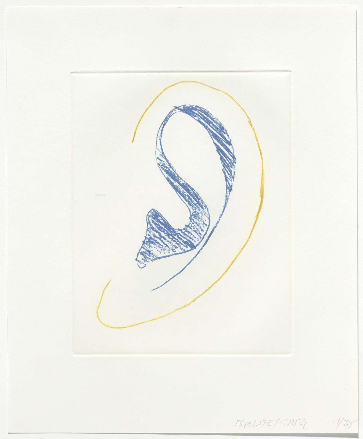 John Baldessari. Untitled from Six Ear Drawings (Complementary Colors). 2007