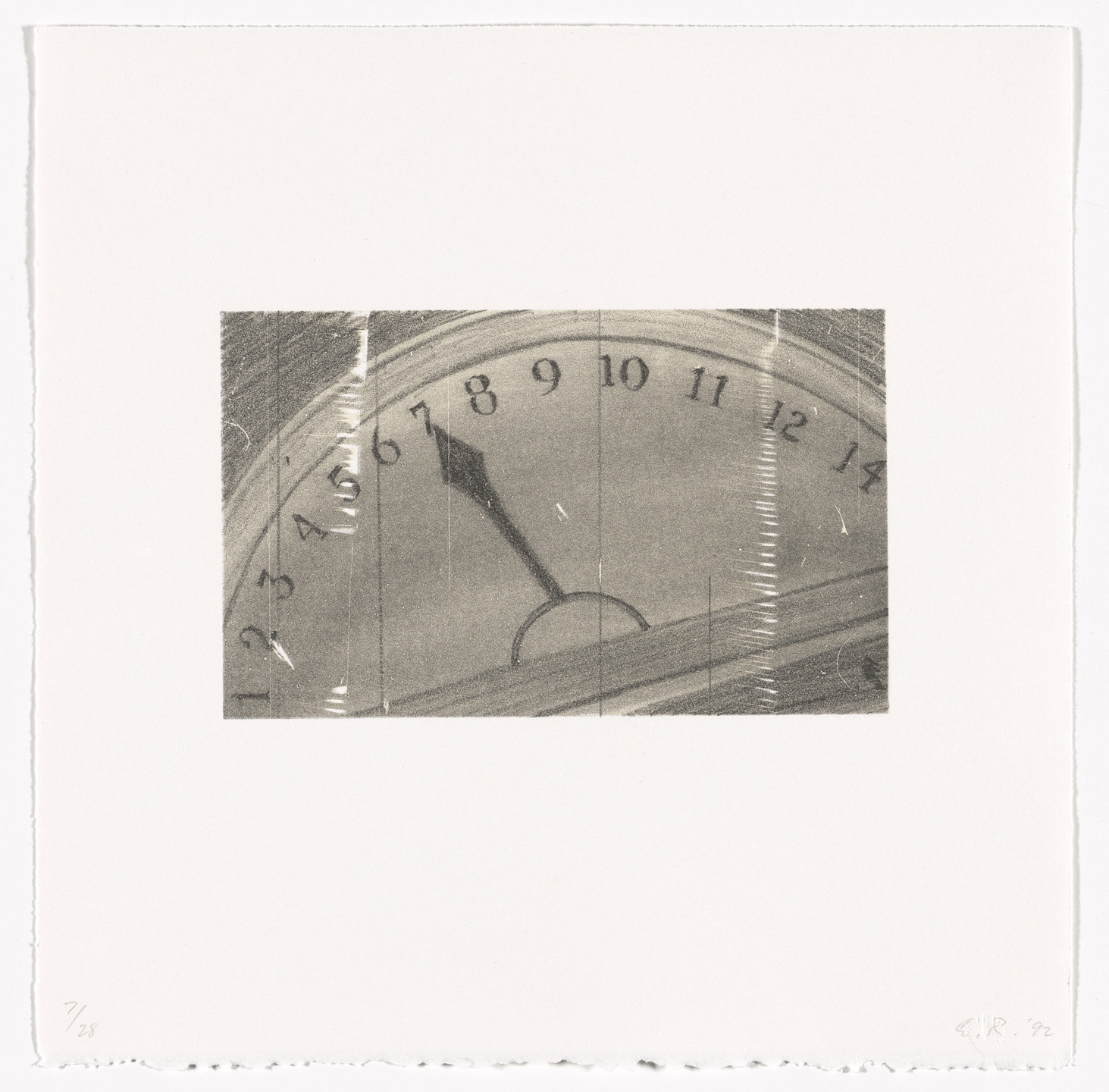 Edward Ruscha. Elevator from Cameo Cuts. 1992