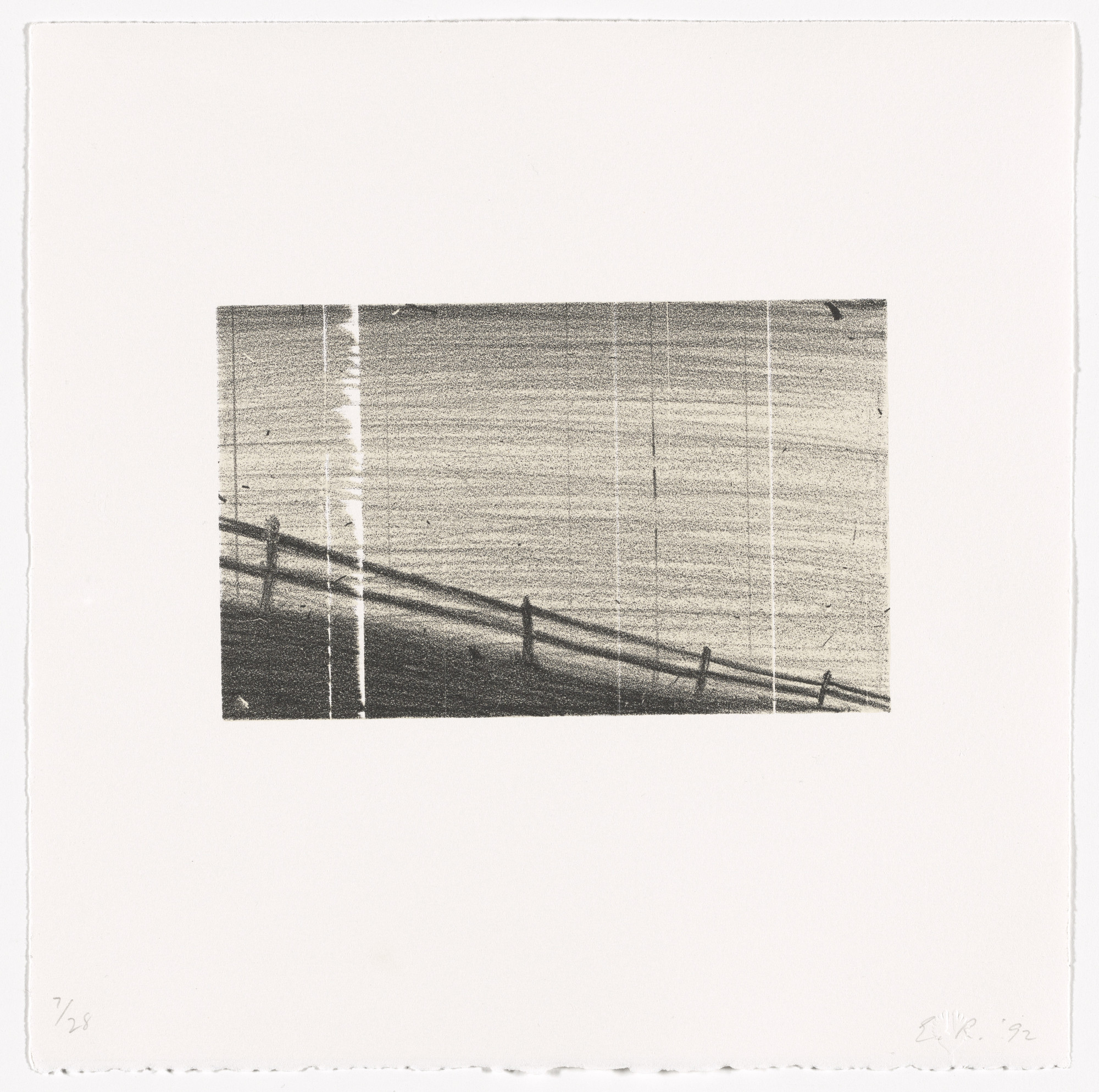 Edward Ruscha. Fence from Cameo Cuts. 1992