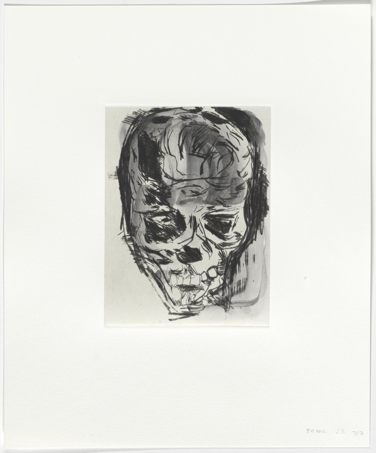 Roger Herman. Untitled from Seven Drypoints with Inkwash. 2012