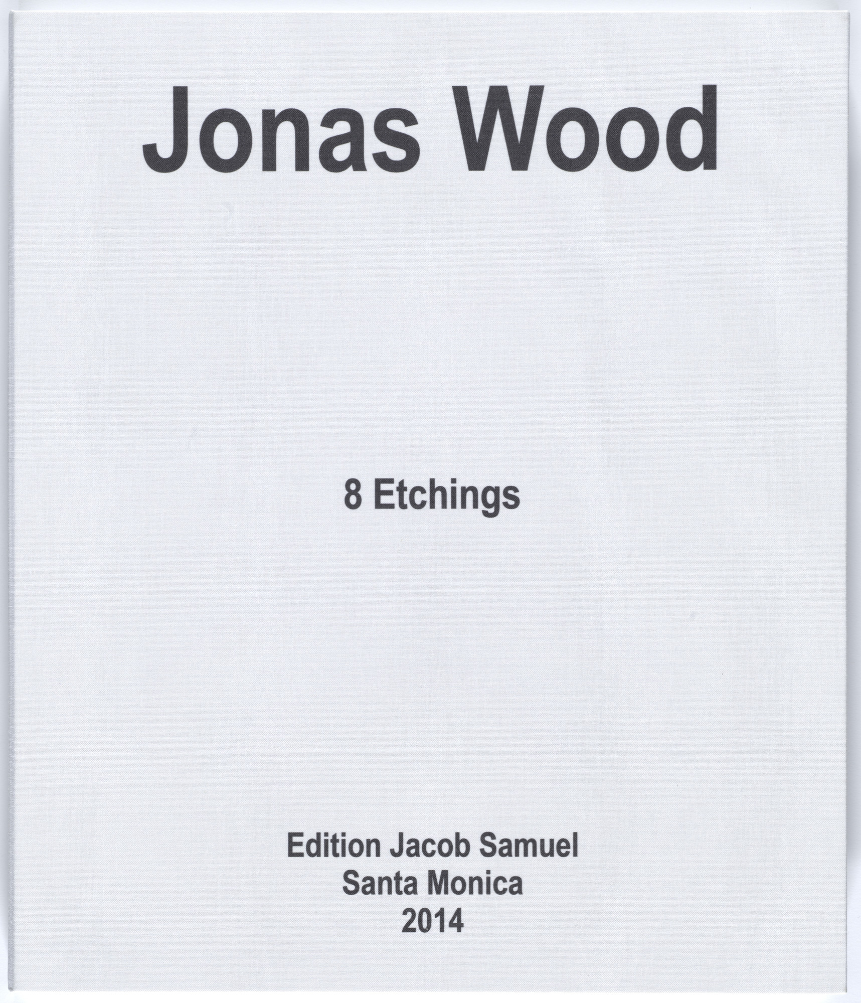 Jonas Wood. Eight Etchings. 2014