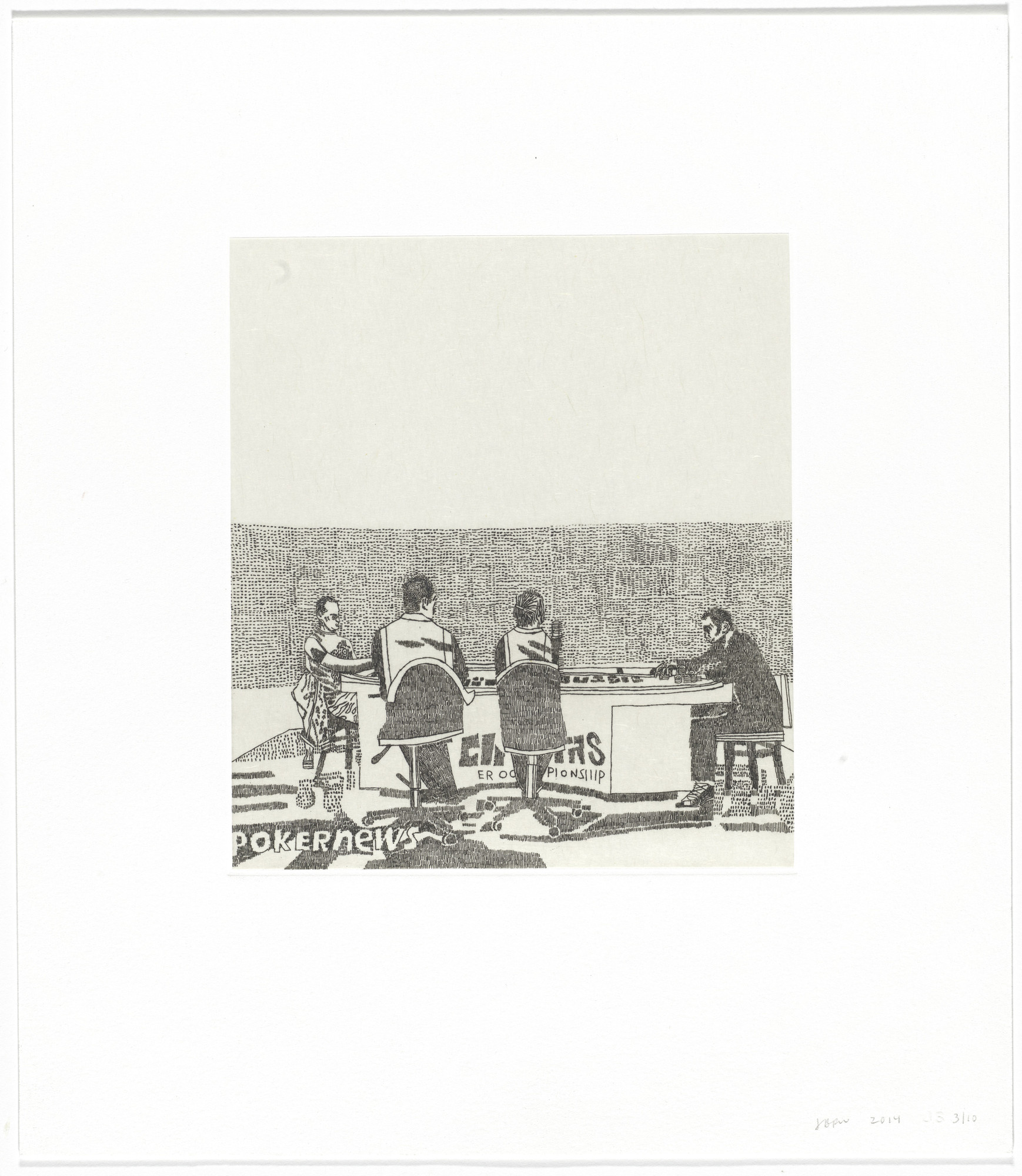 Jonas Wood. Untitled from Eight Etchings. 2014