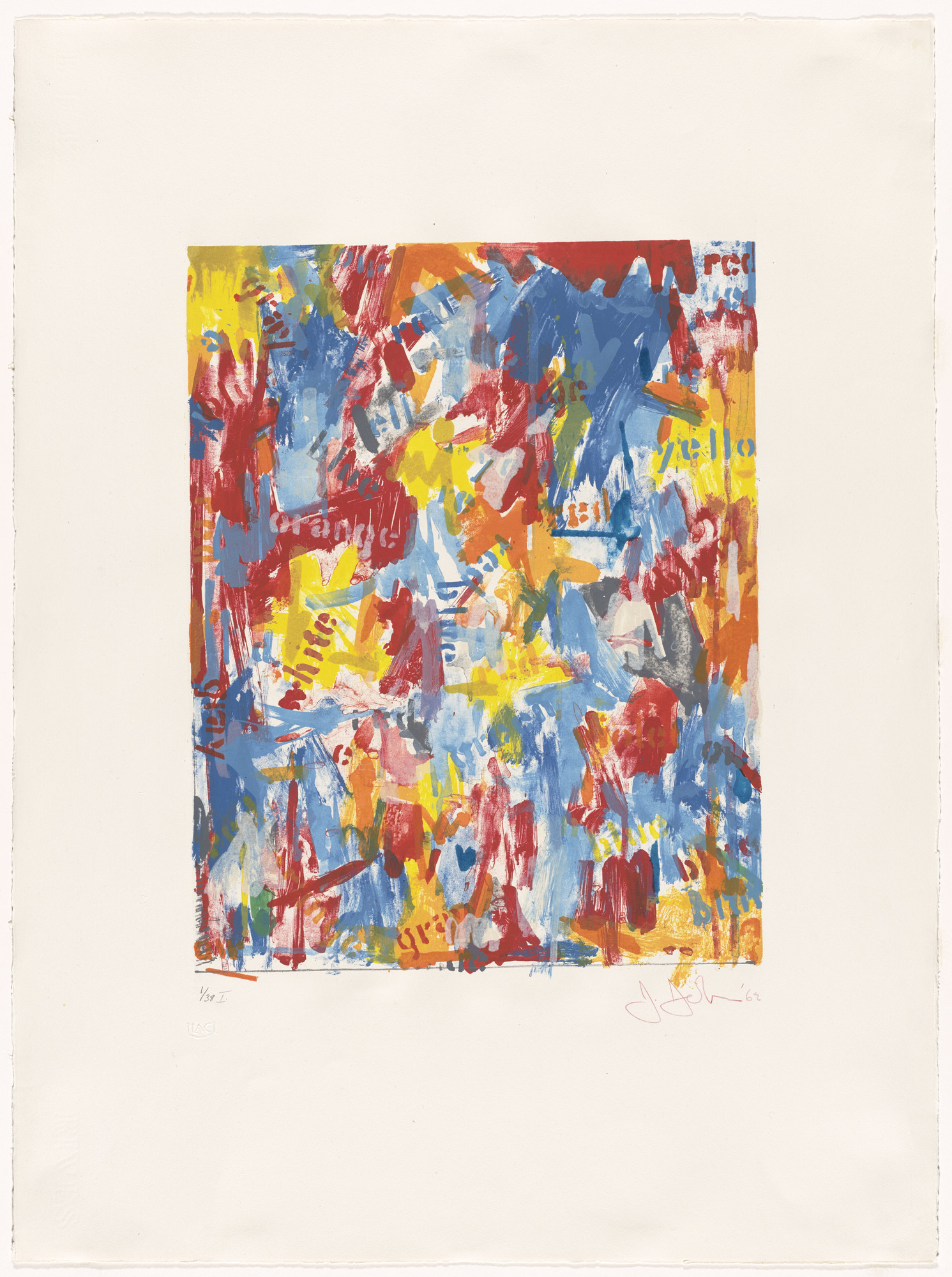 Jasper Johns. False Start I. 1962