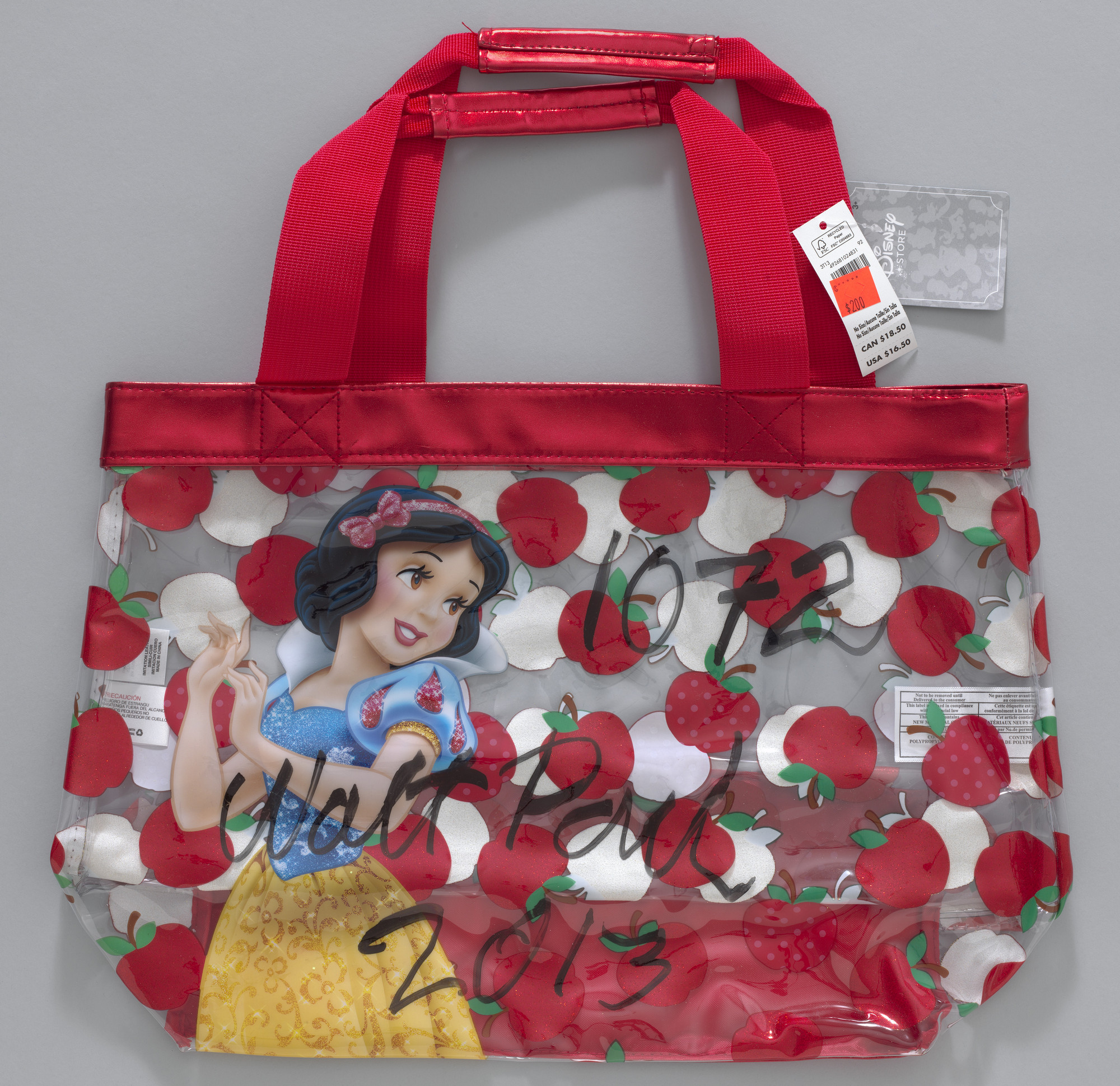 Paul McCarthy. Walt Paul Store, WS, Snow White Swim Bag with Red Apples. 2013