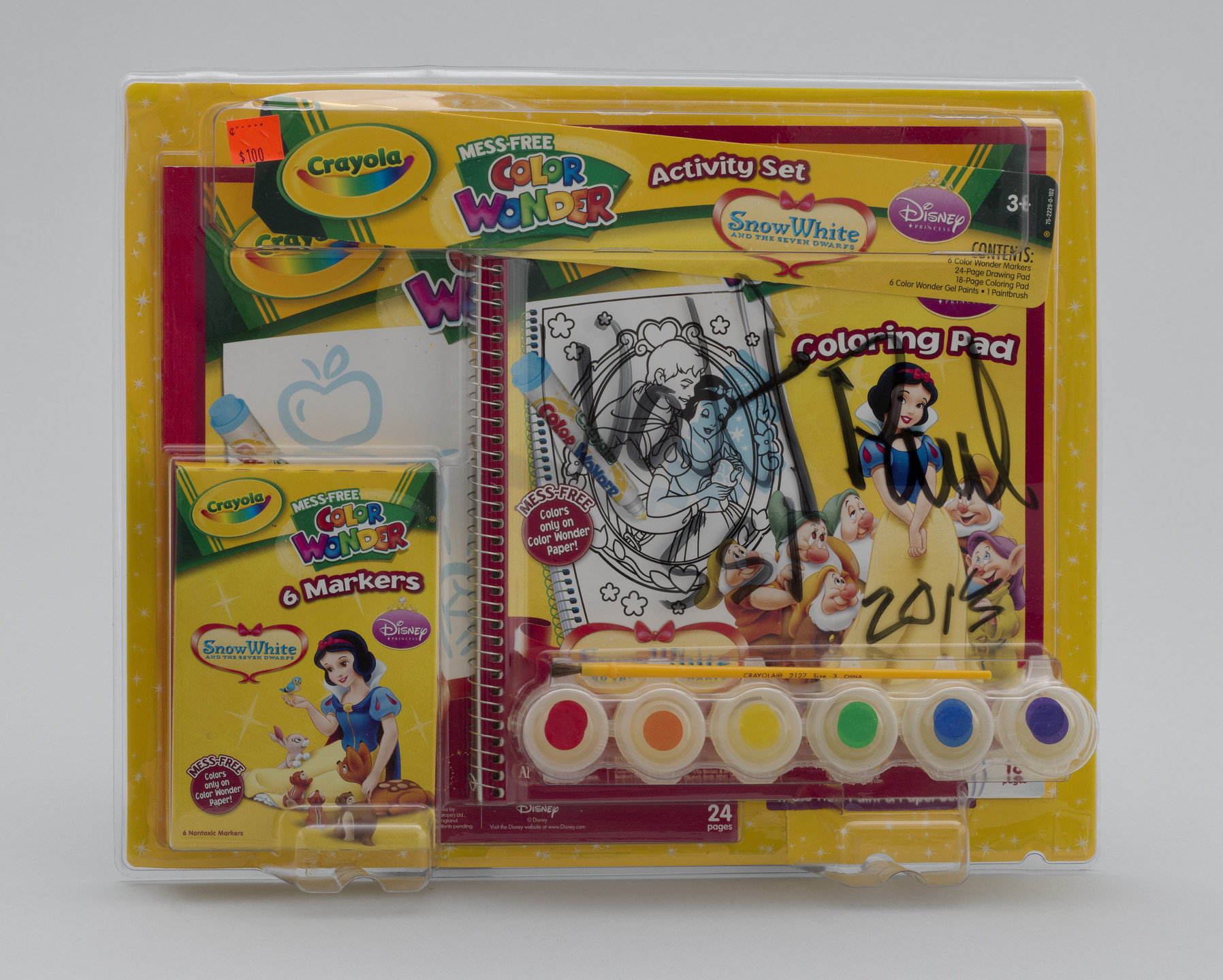 Paul McCarthy. Walt Paul Store, WS, Crayola Mess-Free Color Wonder Activity Ste- Snow White. 2013