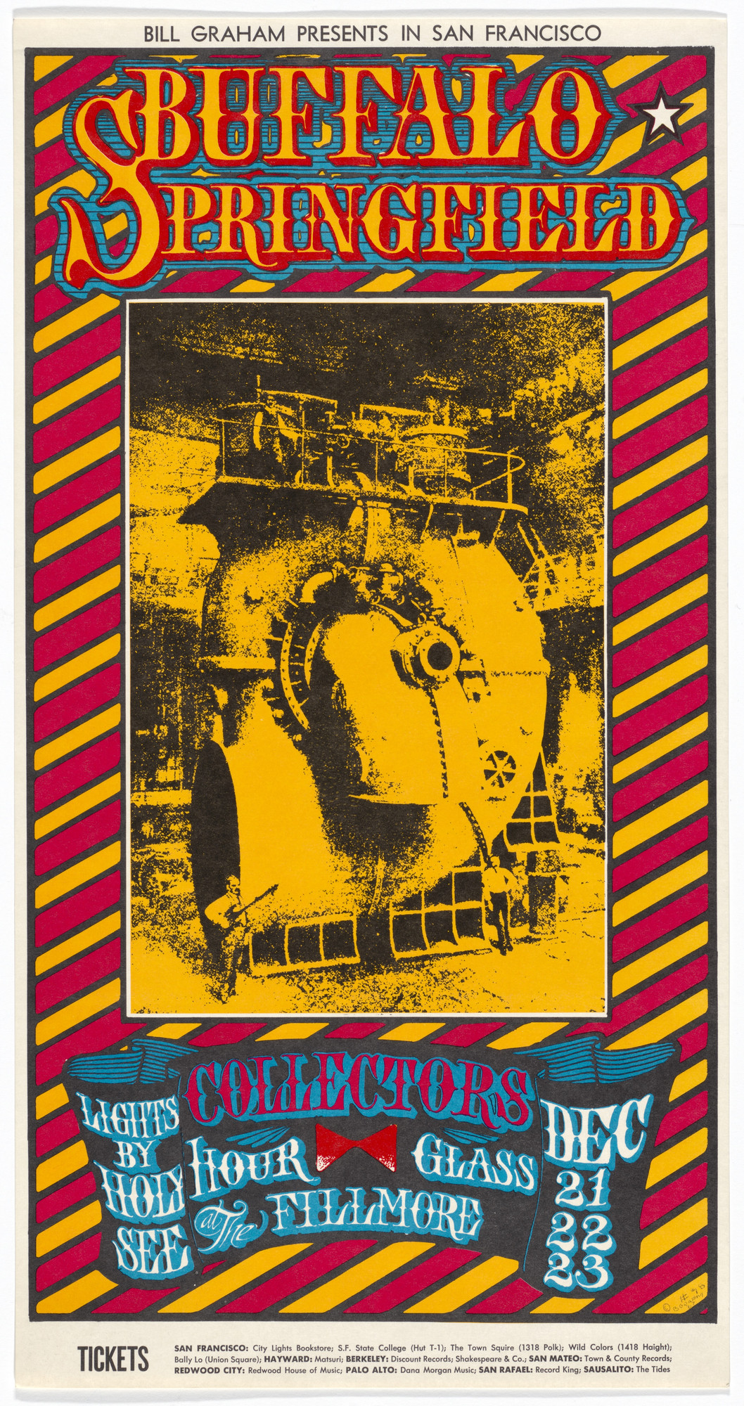 Stanley Mouse, Alton Kelley. Buffalo Springfield, Collectors, Hour Glass. 1967