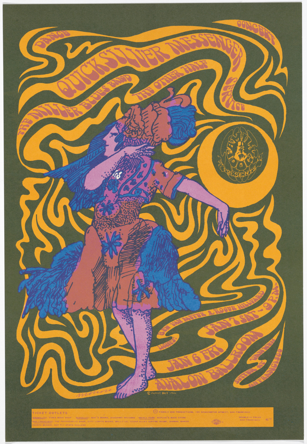 Victor Moscoso. Quicksilver Messenger Service, The Miller Blues Band, The Other Half. 1967