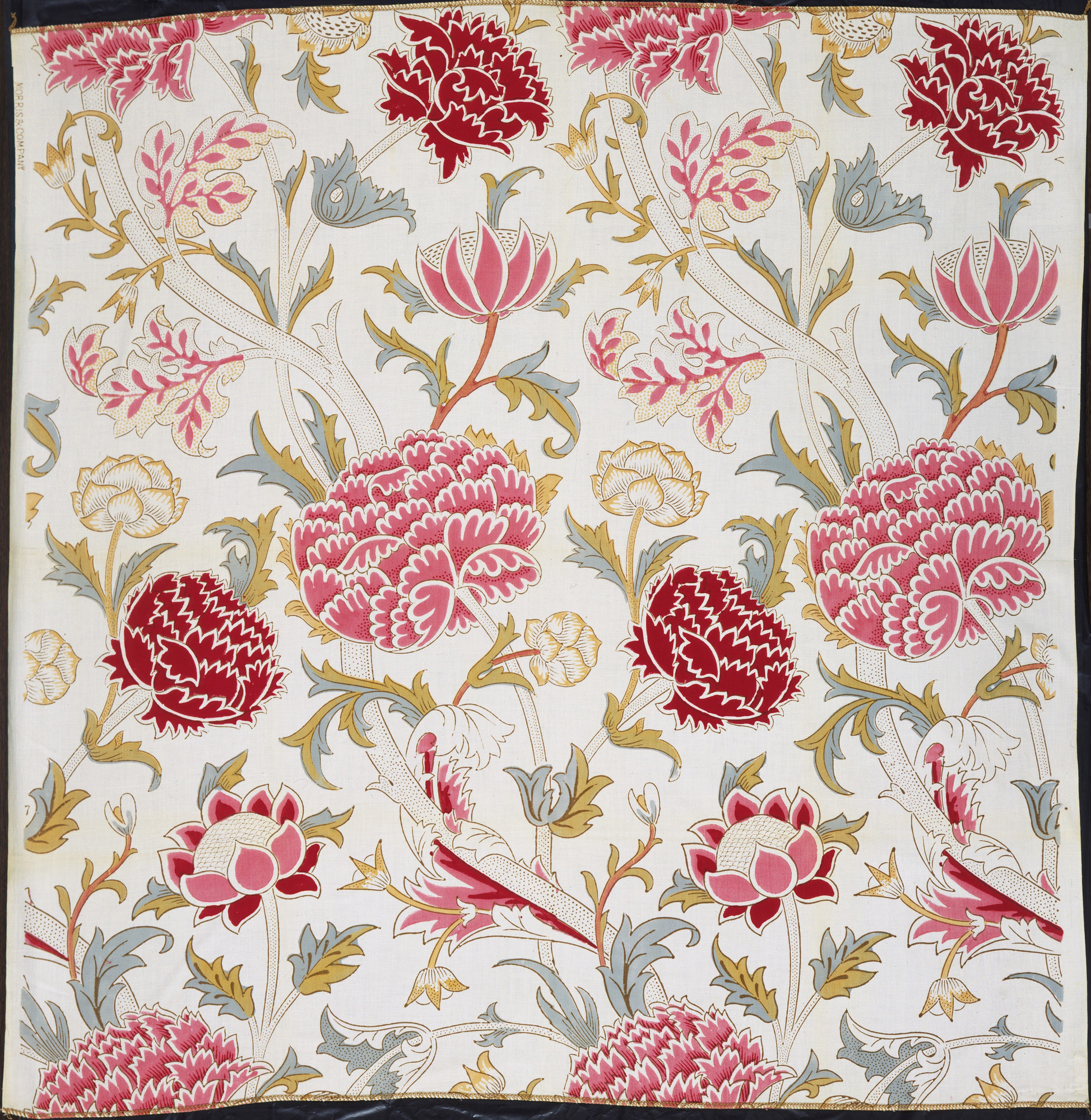 William Morris. Chrysanthemum Pattern Printed Fabric (no. 23612). 1884