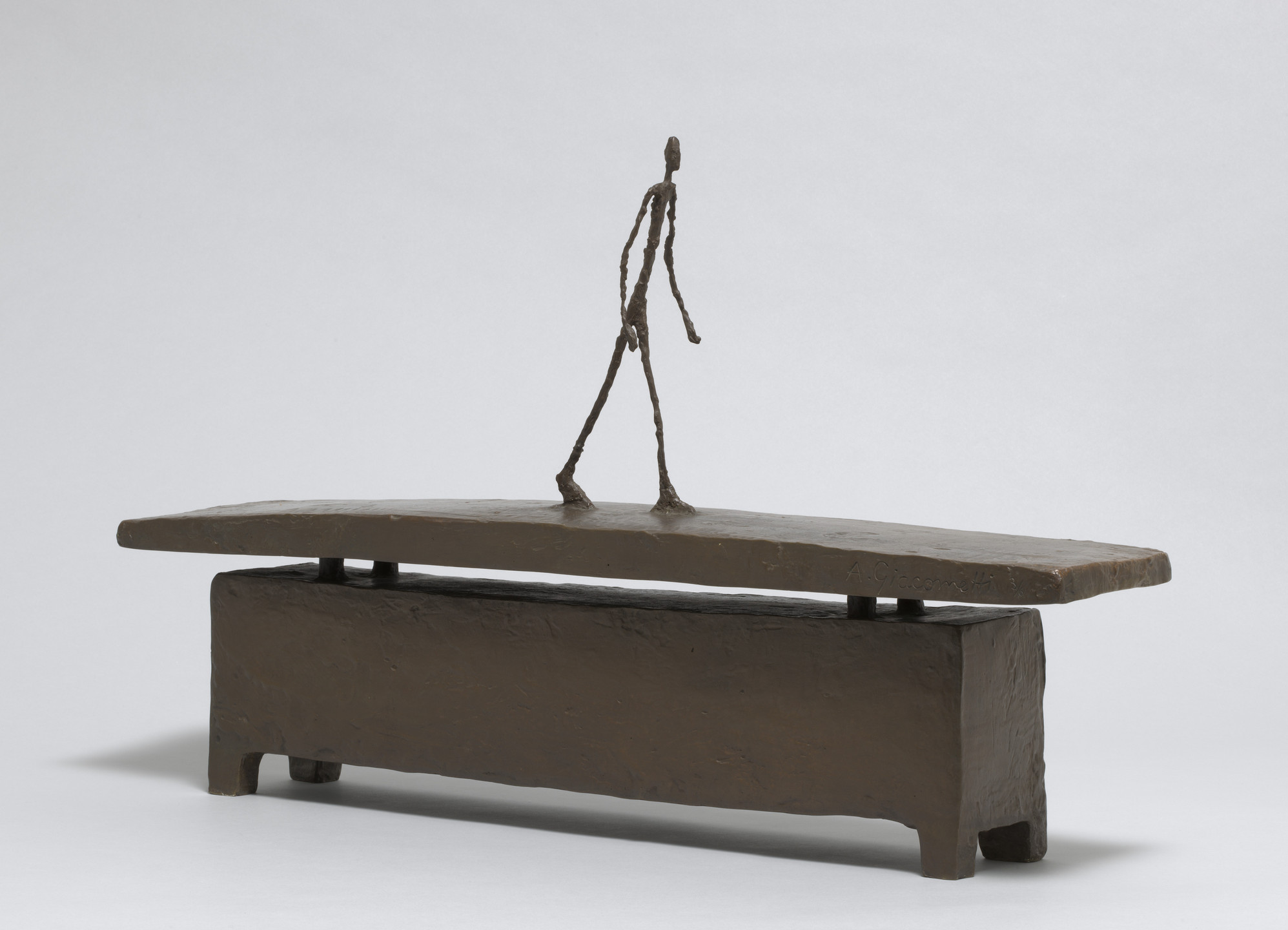 Alberto Giacometti. Walking Quickly under the Rain. c. 1948 (cast 1949)