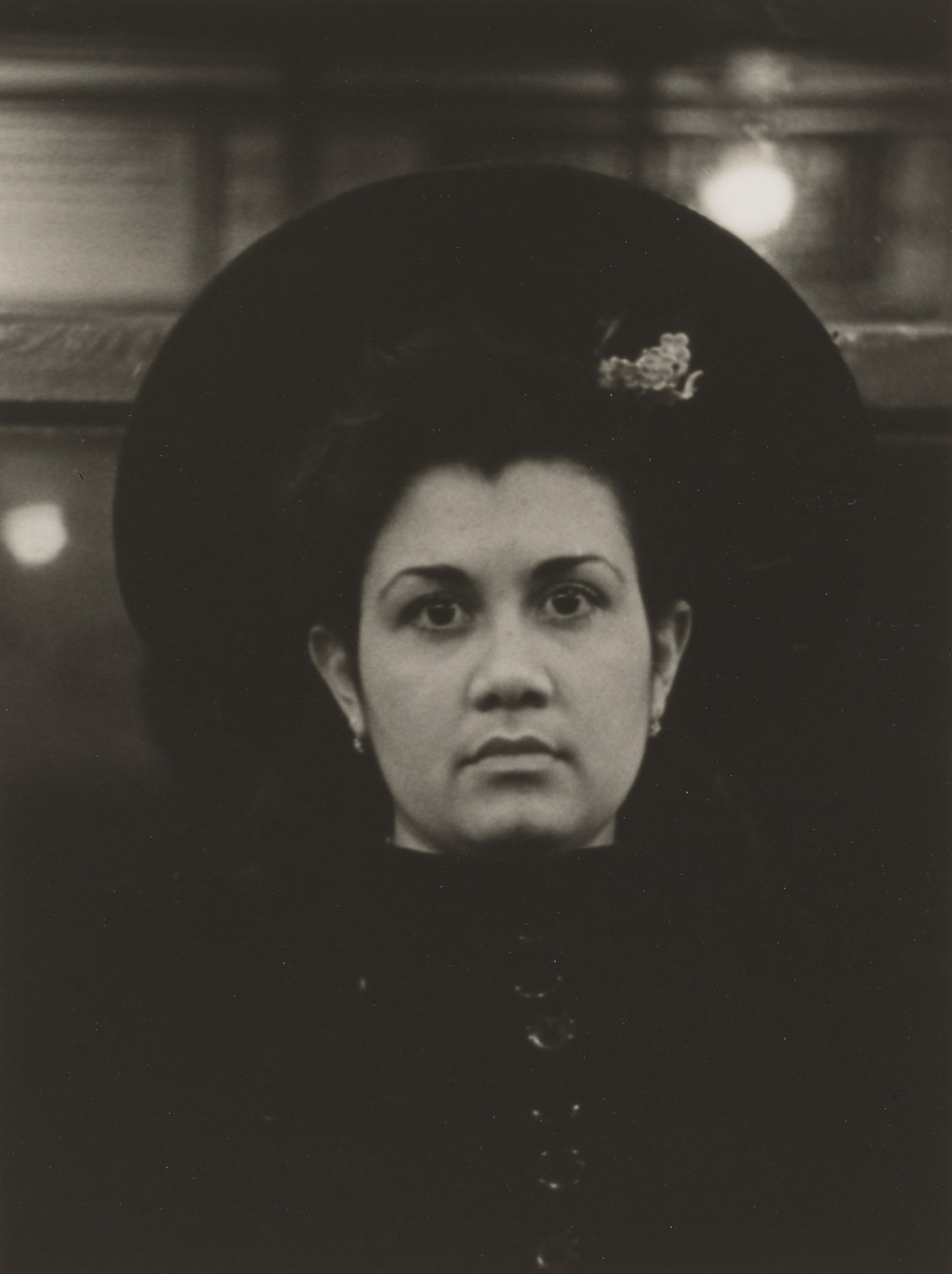 Walker Evans. Subway Portrait. 1938-41