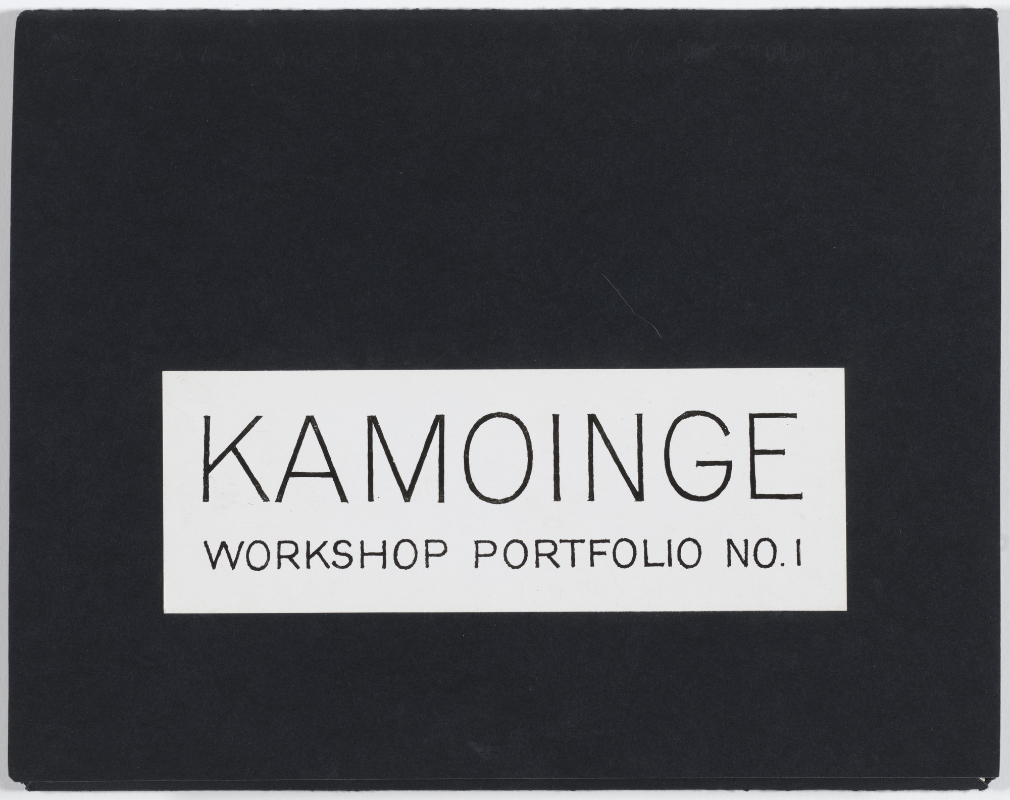 Kamoinge Workshop. Untitled. 1964