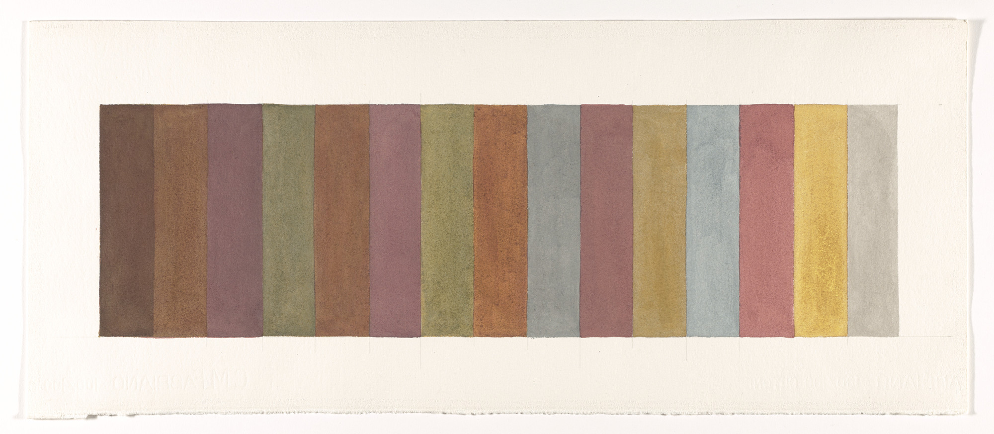 Sol LeWitt. All One-Two-Three- and Four-part Combinations of Four Colors, Fifteen Vertical Parts. 1984