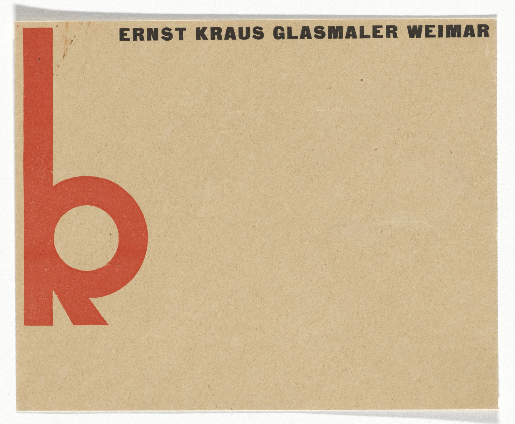 Herbert Bayer. Ernst Kraus stationery envelope. 1922