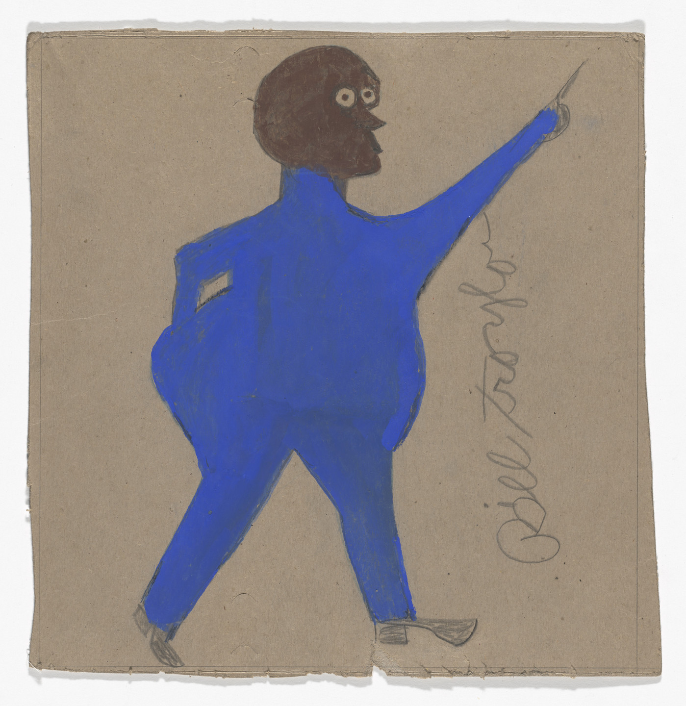 Bill Traylor. Fat Man in Blue. c. 1939–42
