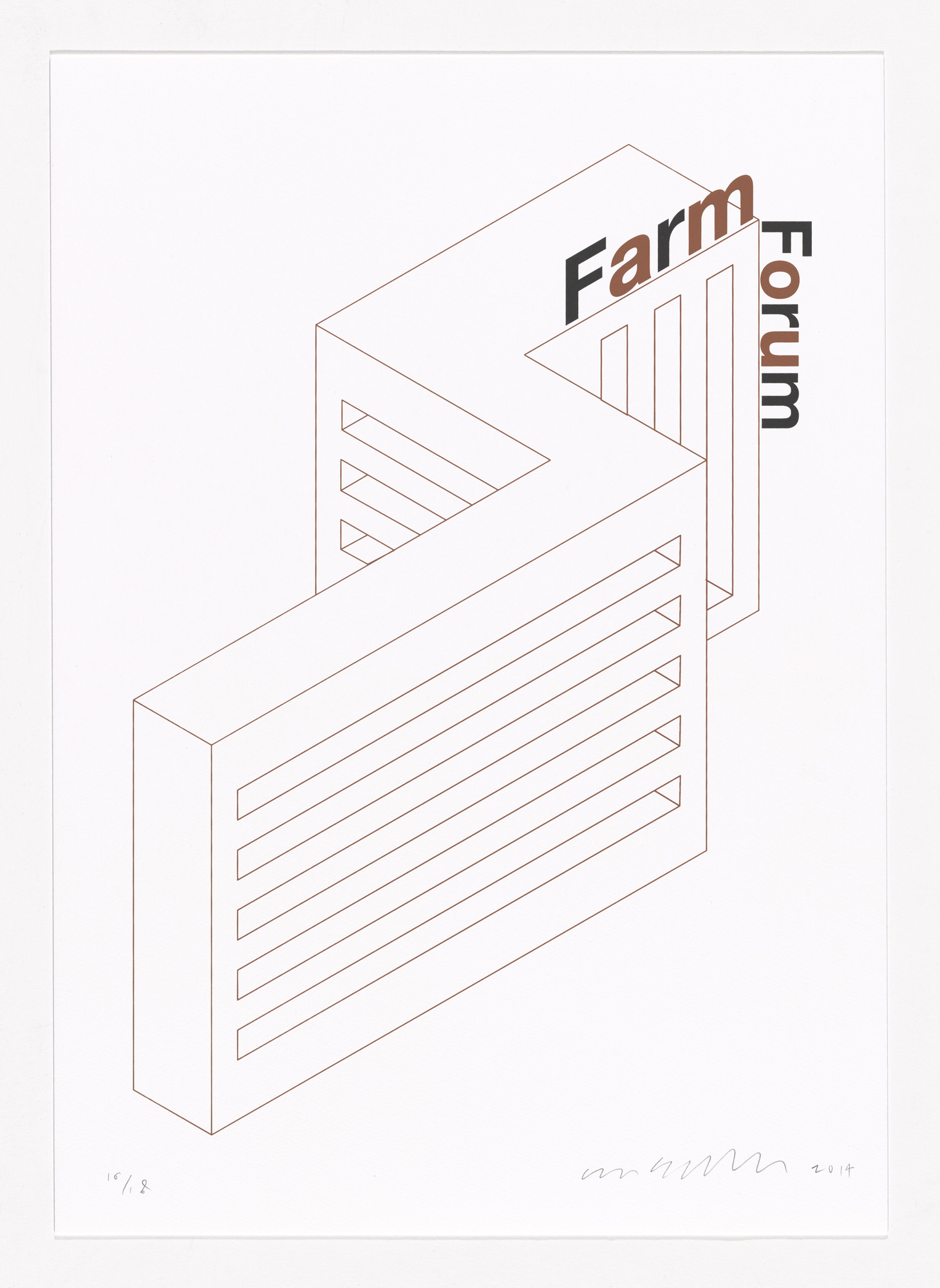 Liam Gillick. Farm Form Firm Forum. 2014