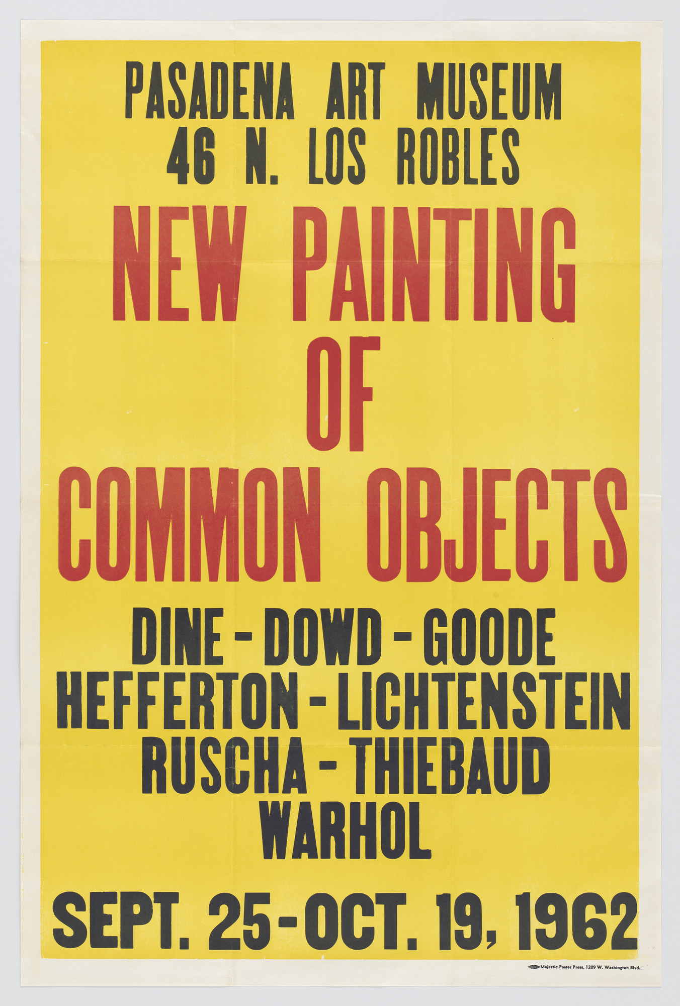 Edward Ruscha. New Painting of Common Objects. 1962